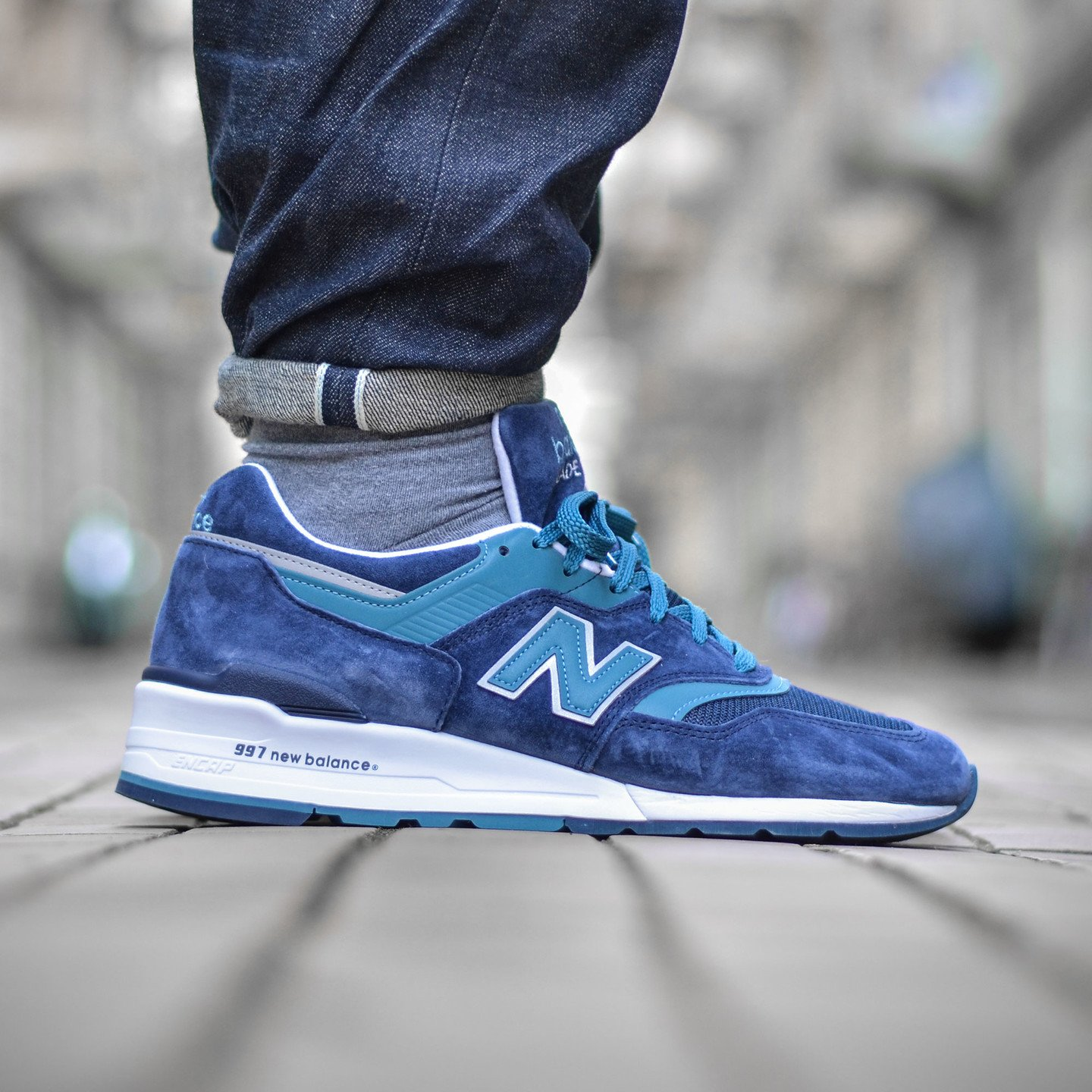 New Balance M997 CEF - Made in USA Navy / Castaway / White M997CEF