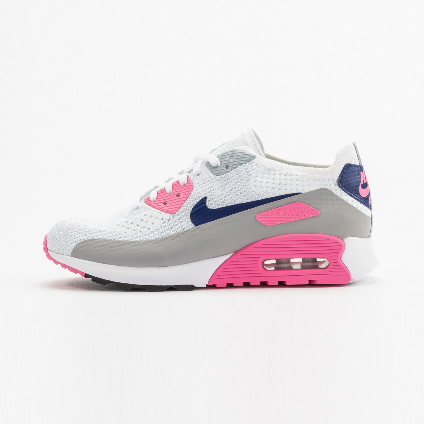 Nike Wmns Air Max 90 Ultra 2.0 Flyknit OG White / Concord / Laser Pink 881109-101