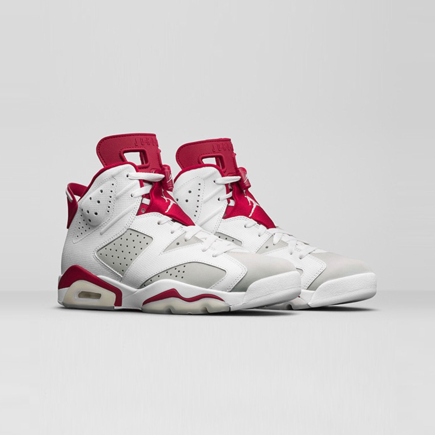 Jordan Air Jordan 6 Retro Alternate GS White / Pure Platinum / Gym Red 384665-113-38