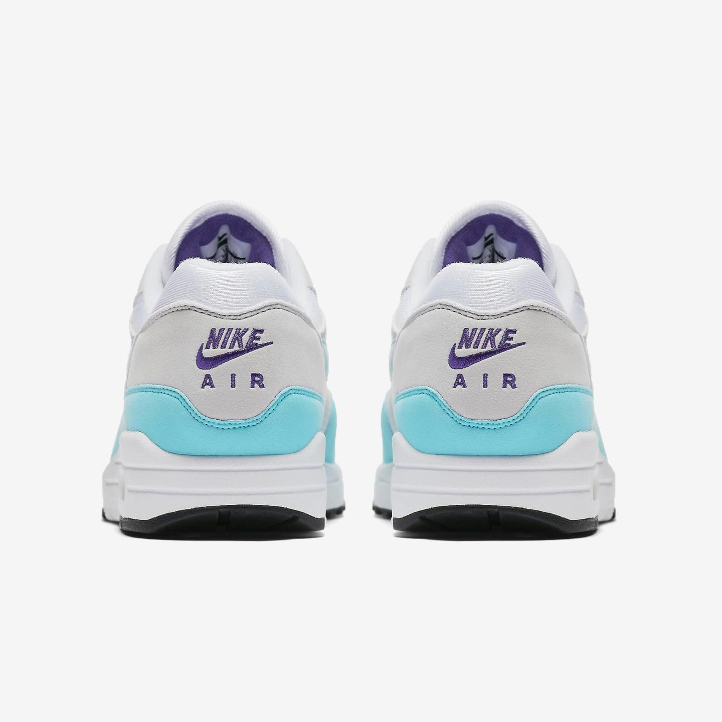 Nike Air Max 1 OG Anniversary White / Aqua / Neutral Grey /  Black 908375-105