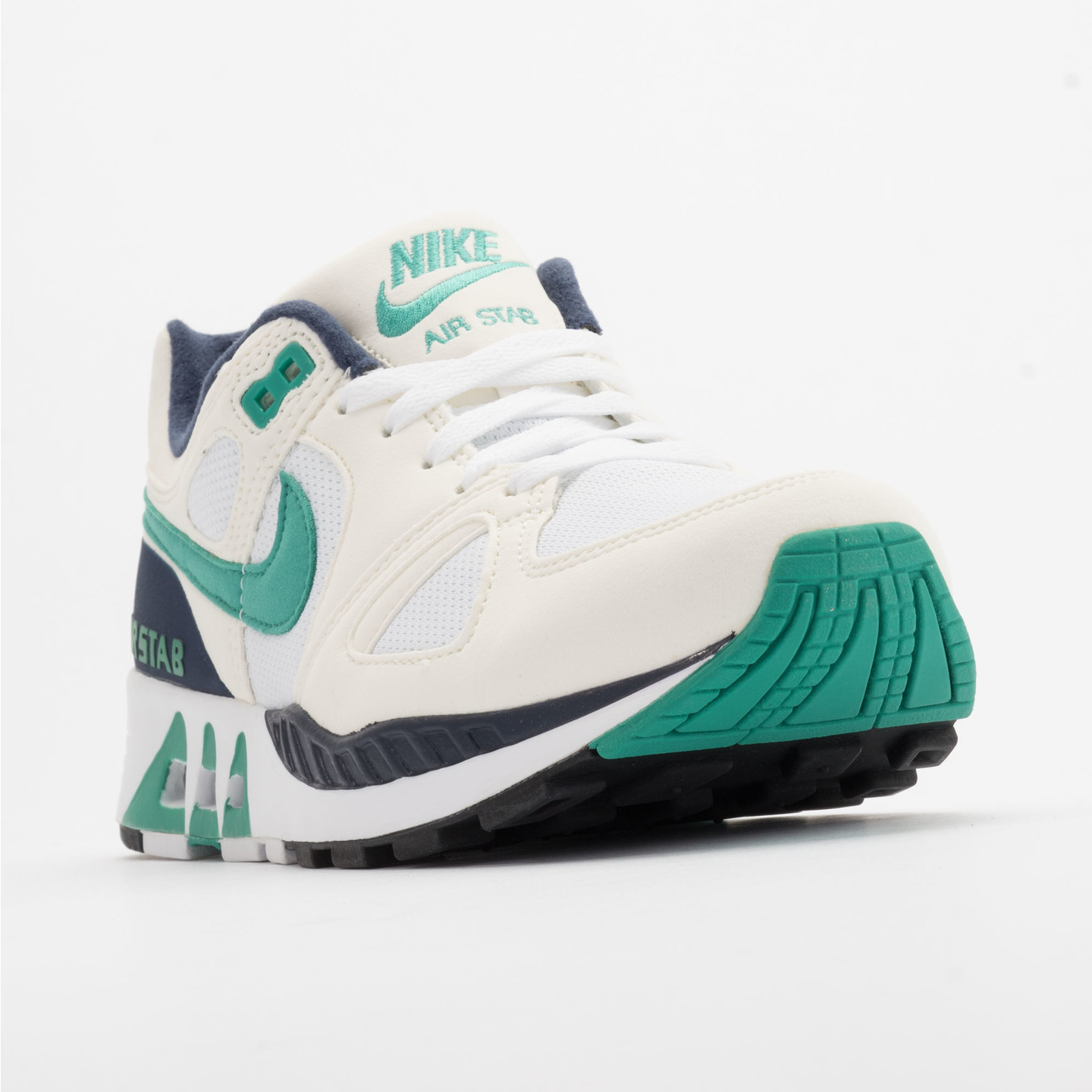 Nike Air Stab White/Emerald Green-Sl-Mid Nvy 312451-100-44.5