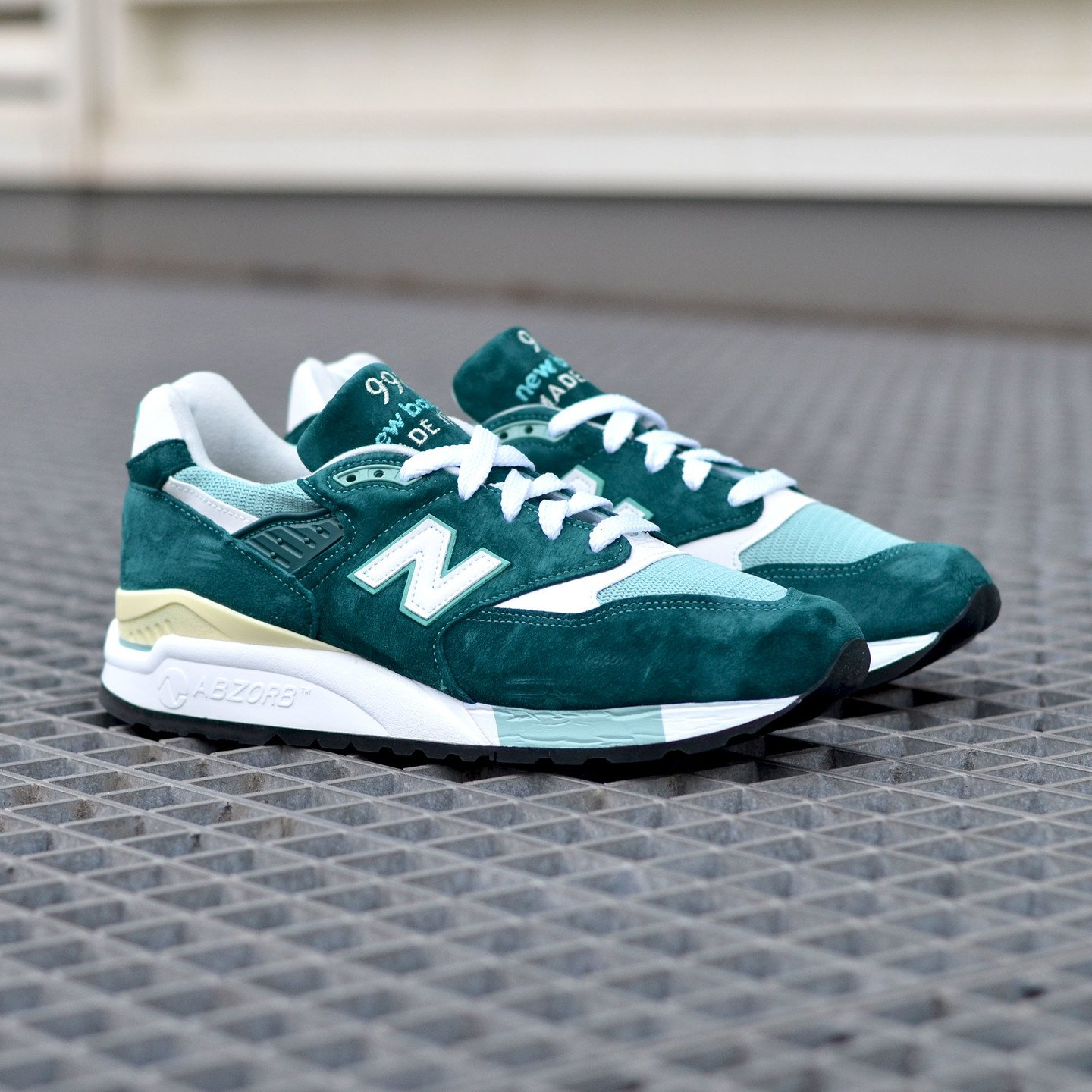 New Balance M998 Made in USA Sea Green / White M998CSAM-45
