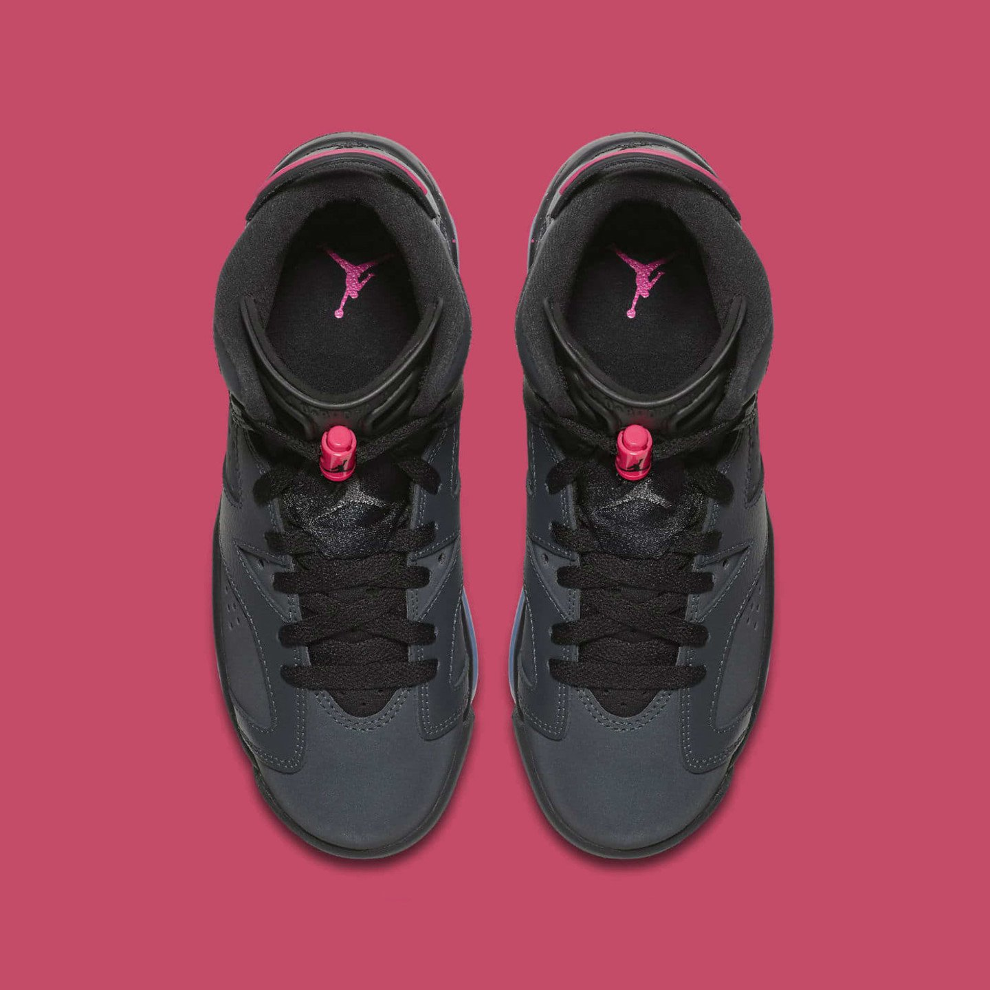 Nike Air Jordan 6 Retro GS Anthracite / Black / Hyper Pink 543390-008-37.5