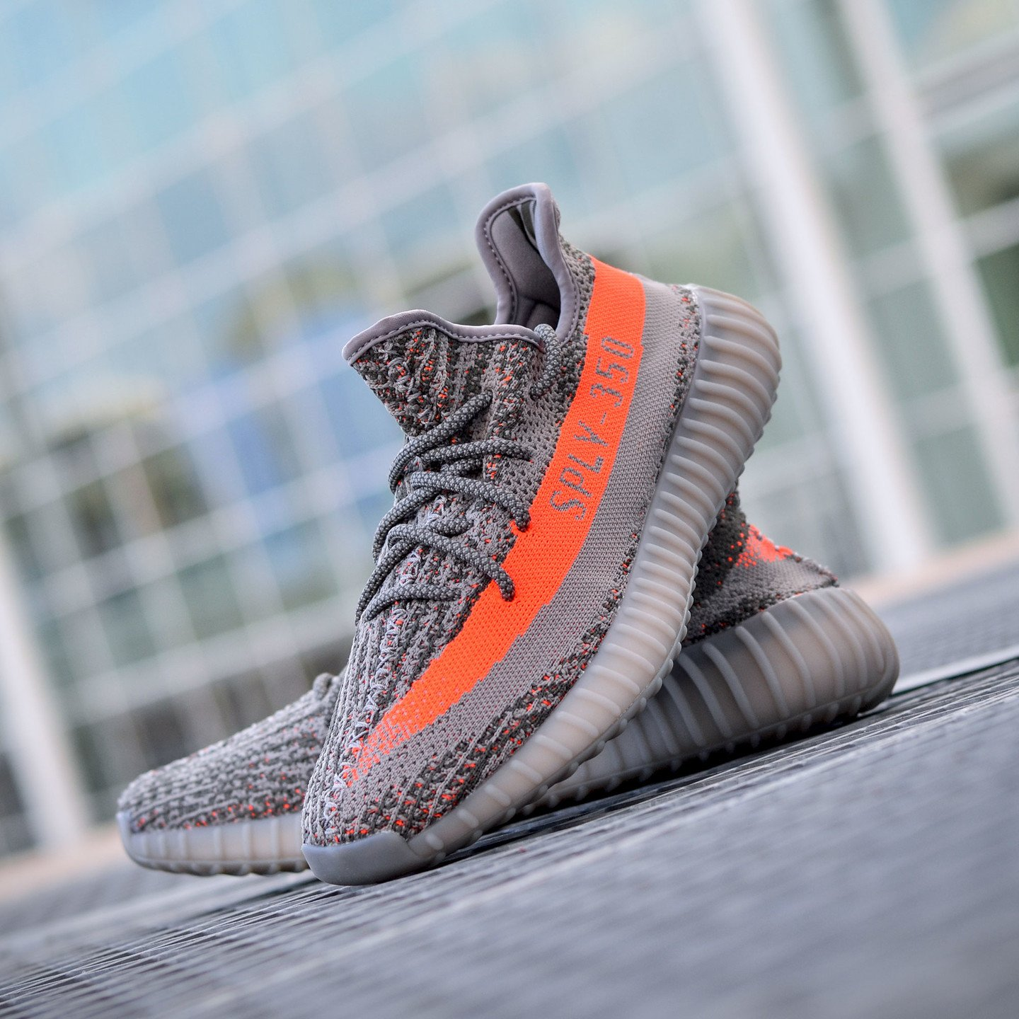 Adidas Yeezy Boost 350 V2 Steel Grey / Beluga / Solar Red BB1826