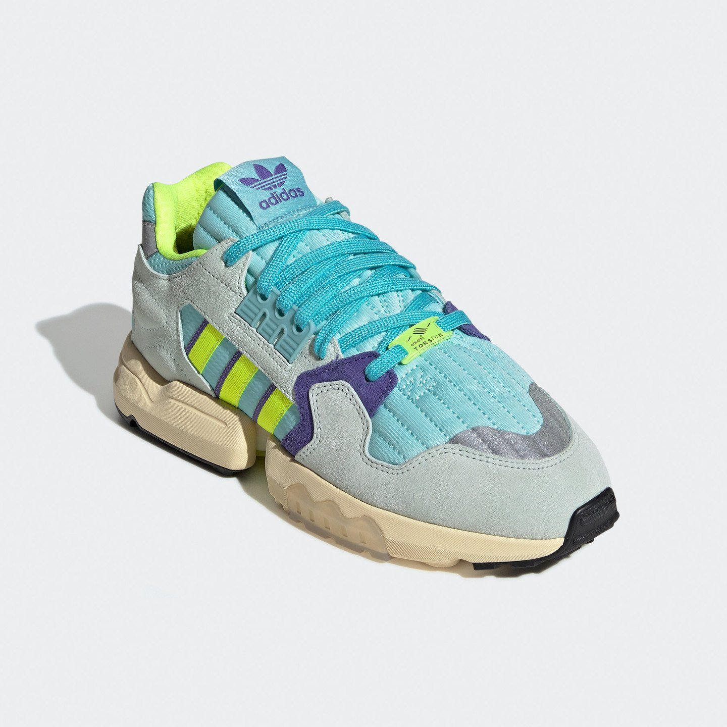 Adidas ZX Torsion 'Aqua' Claqua / Syello / Purple EF4343