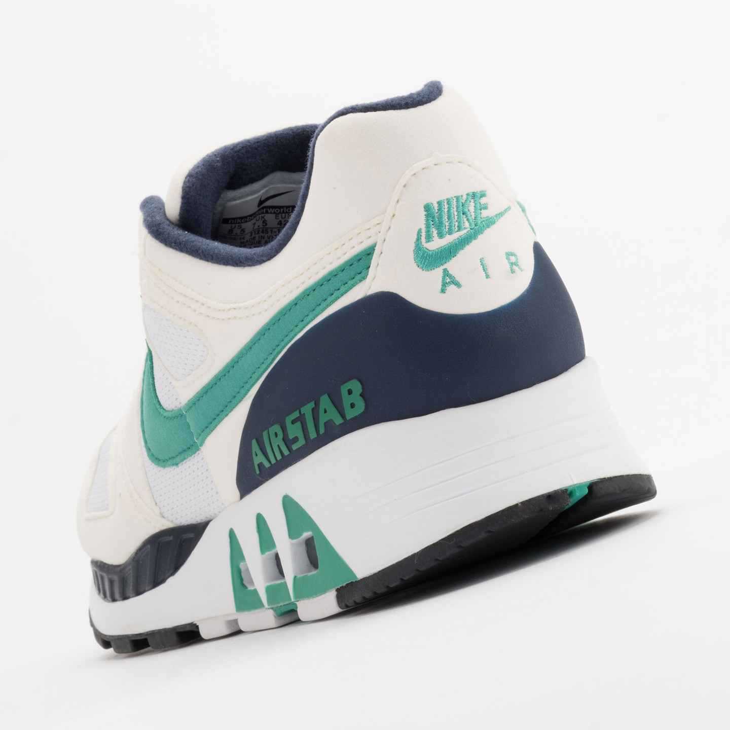 Nike Air Stab White/Emerald Green-Sl-Mid Nvy 312451-100-47.5