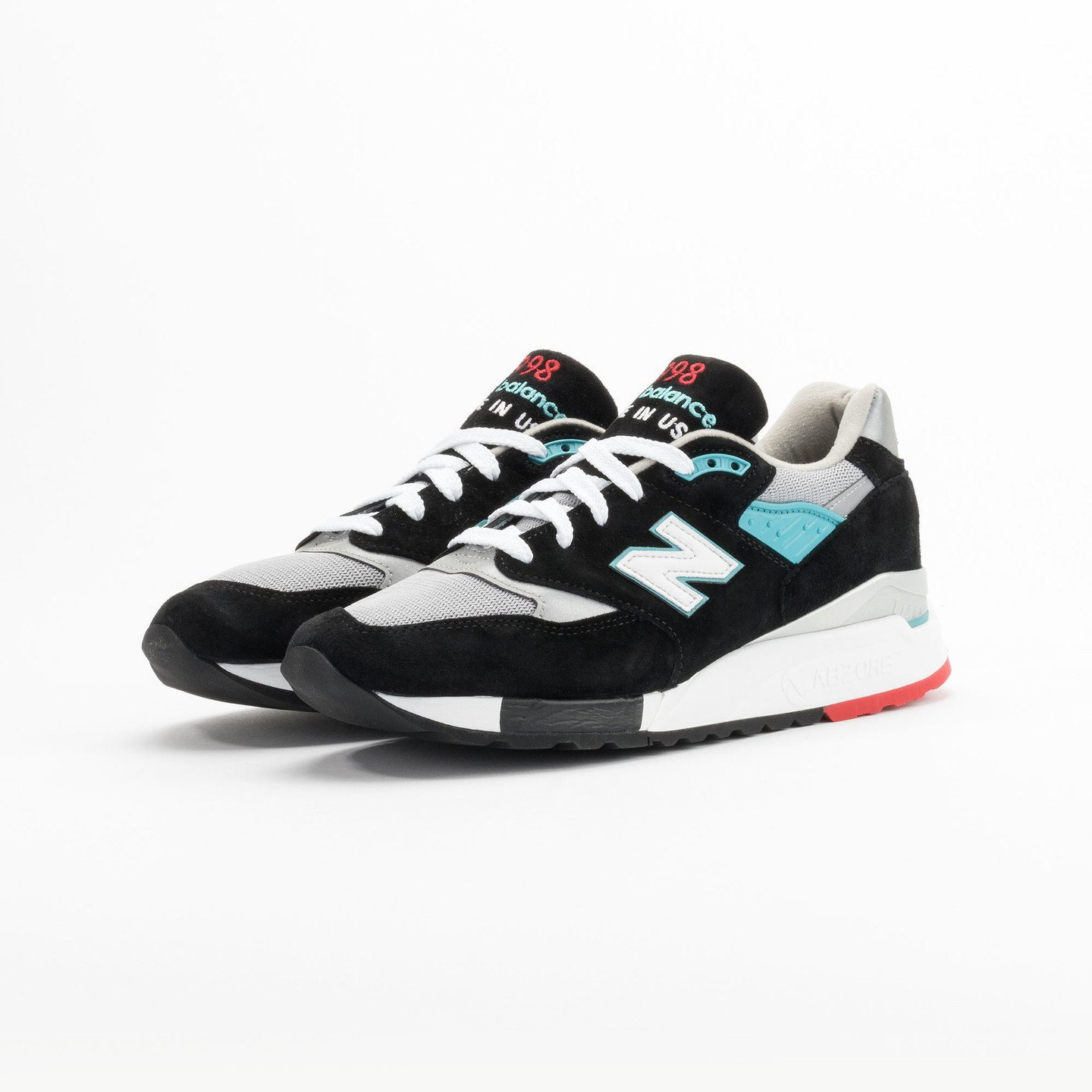 New Balance M998 CBB - Made in USA Black / Grey / Turquoise M998CBB-45.5
