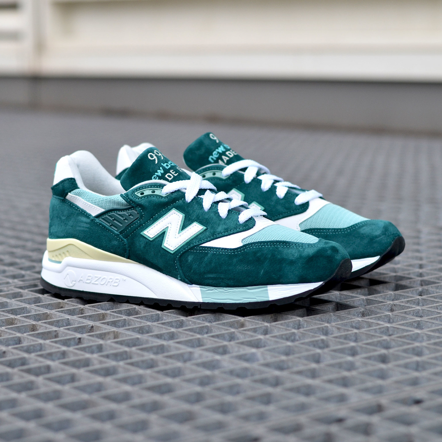 New Balance M998 Made in USA Sea Green / White M998CSAM-44