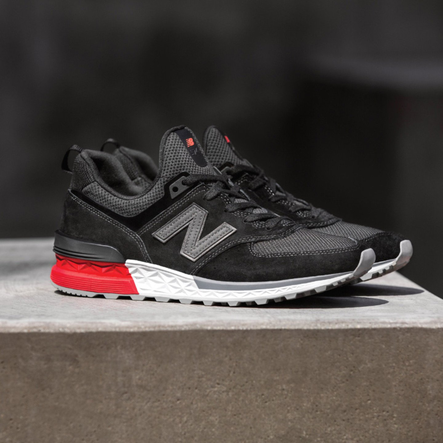 New Balance MS574 Sport  Black / Red / White MS574AB