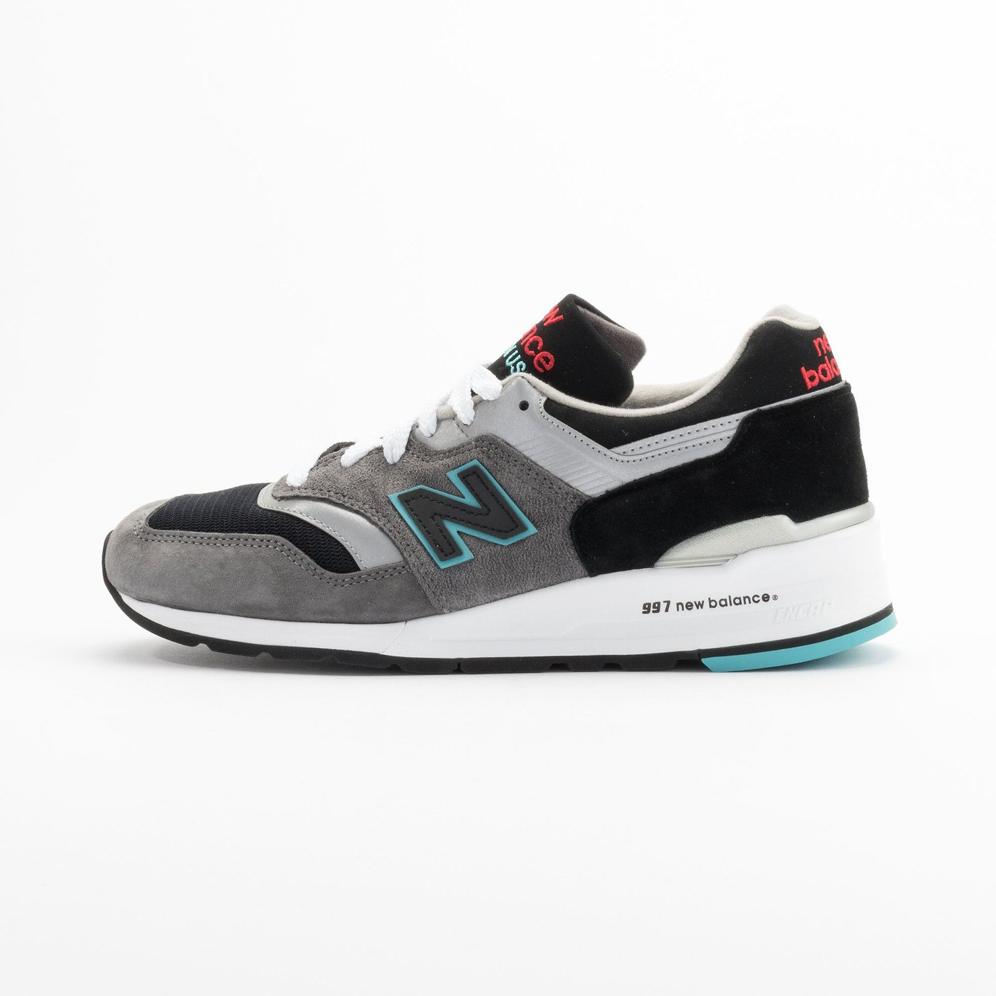 New Balance M997 Made in USA Grey / Black / Mint M997CGB-45