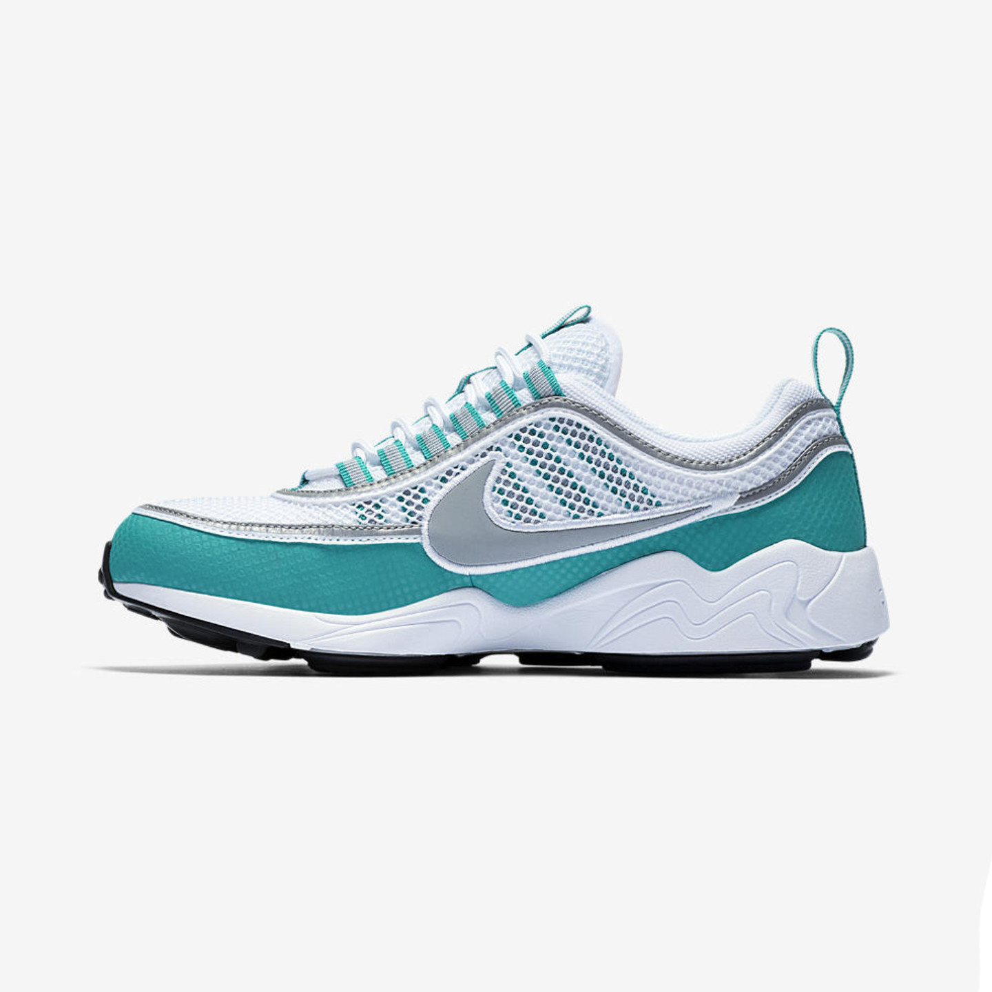Nike Air Zoom Spiridon White / Silver / Turbo Green / Laser Orange 849776-102-45