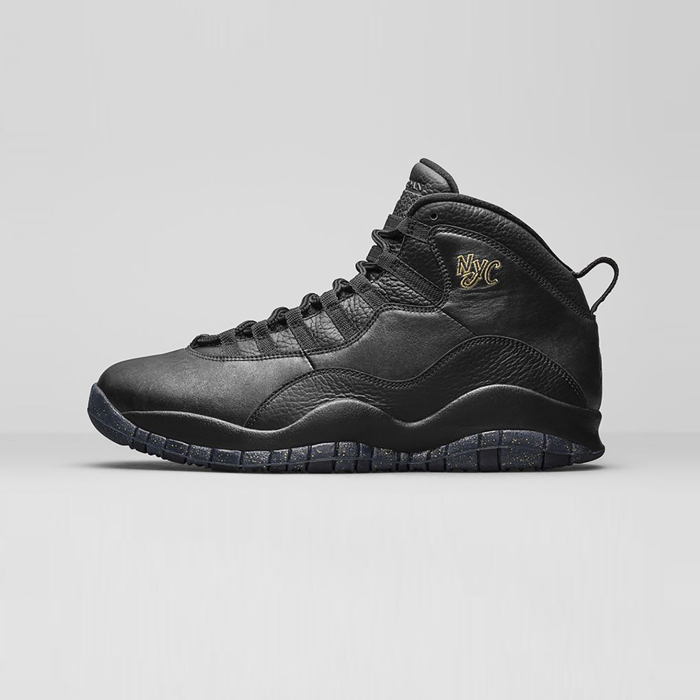 Jordan Air Jordan 10 Retro GS 'NYC' Black / Metallic Gold 310806-012-38
