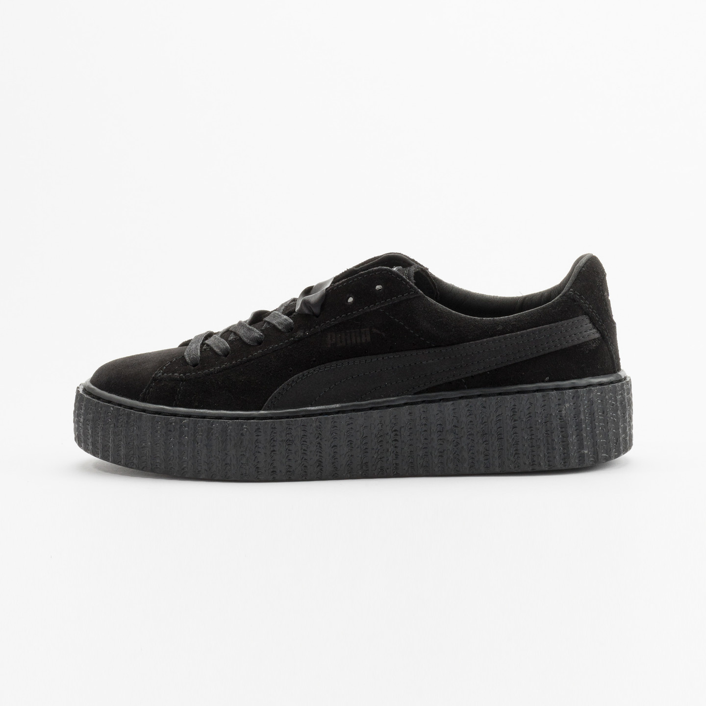 Puma Rihanna Suede Creepers Satin Triple Black 362268 01-37.5