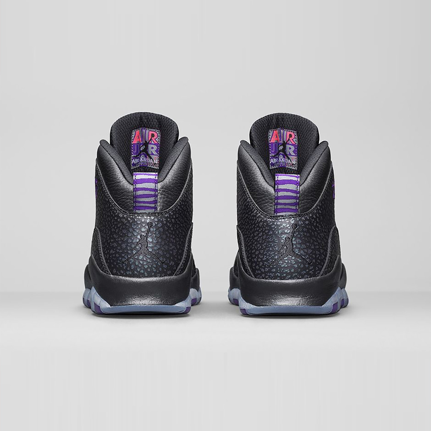 Jordan Air Jordan 10 Retro 'Paris' Black / Fierce Purple 310805-018-47.5