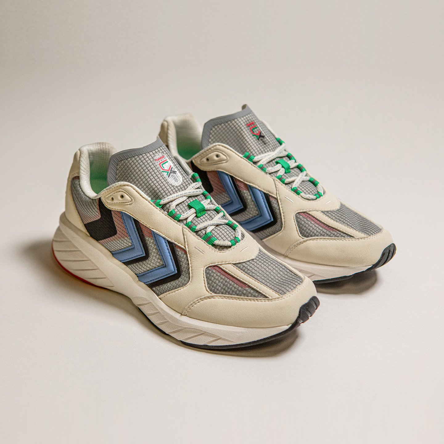Hummel Reach LX 6000 Archive Off White / Grey / Blue / Green 209011-9031