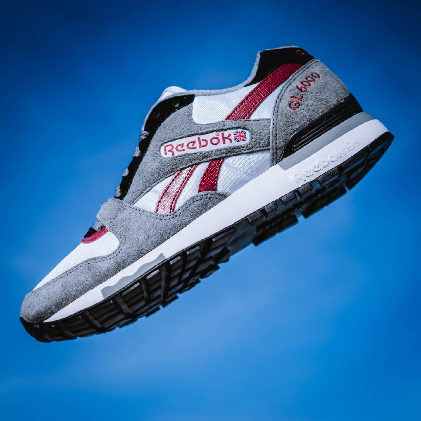Reebok GL 6000 OG Cold Grey / White / Triathlon Red DV7361