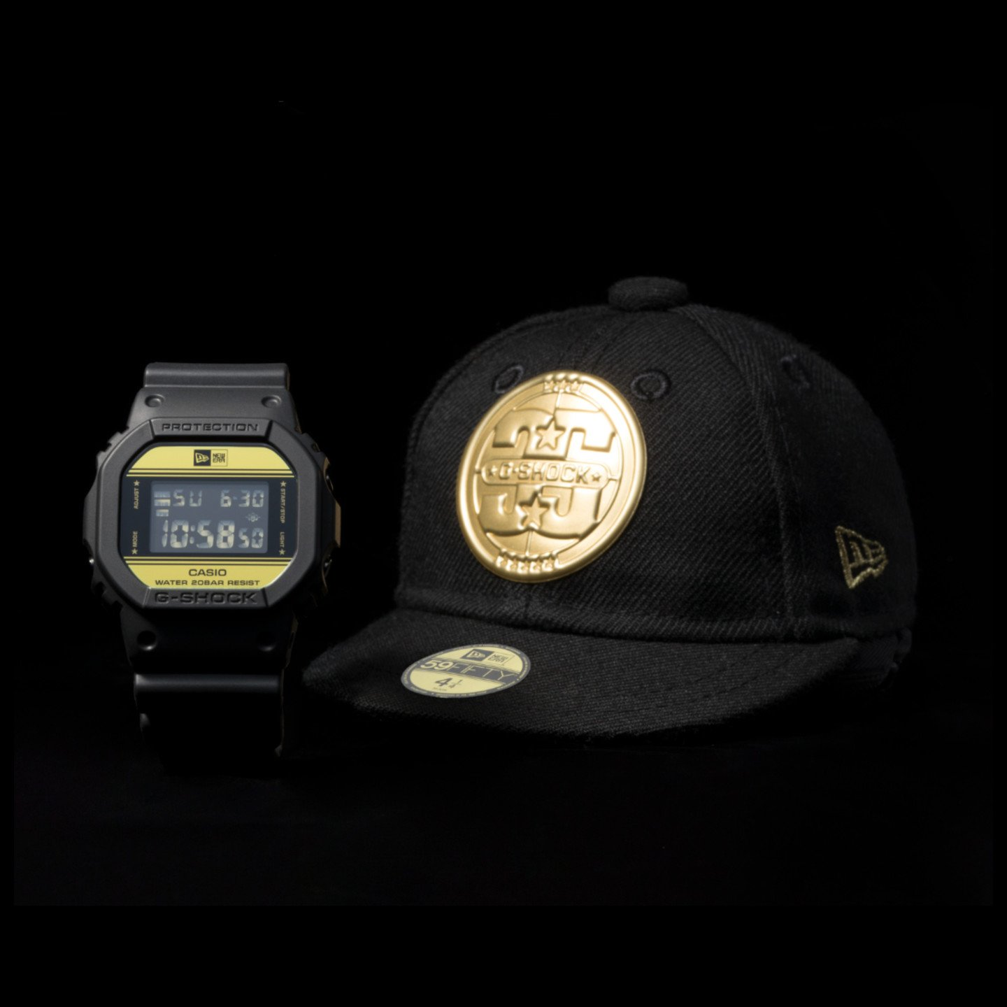 Casio G-Shock x New Era Black / Gold DW-5600NE-1ER