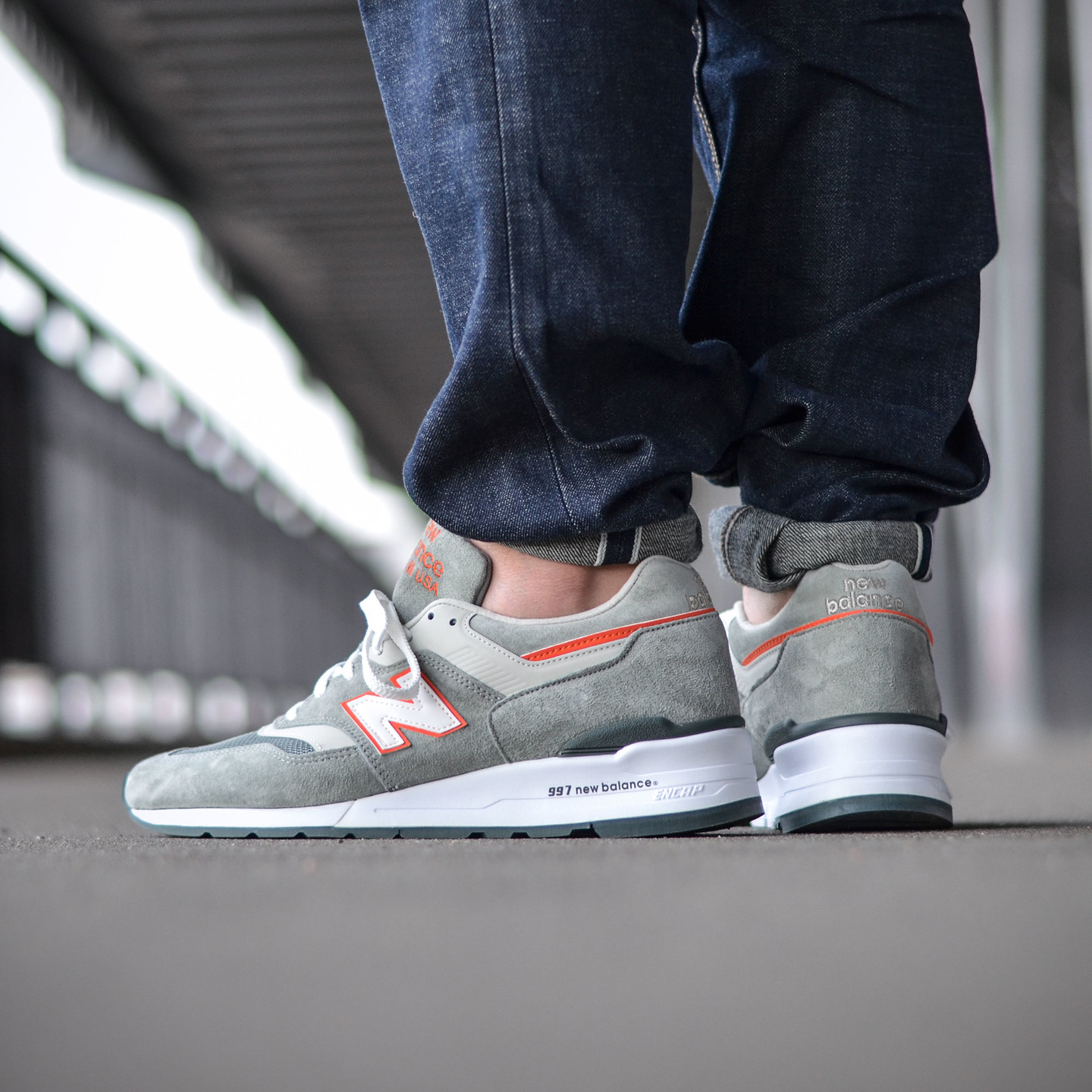 New Balance M997 Made in USA Grey / Orange M997CHT-45.5