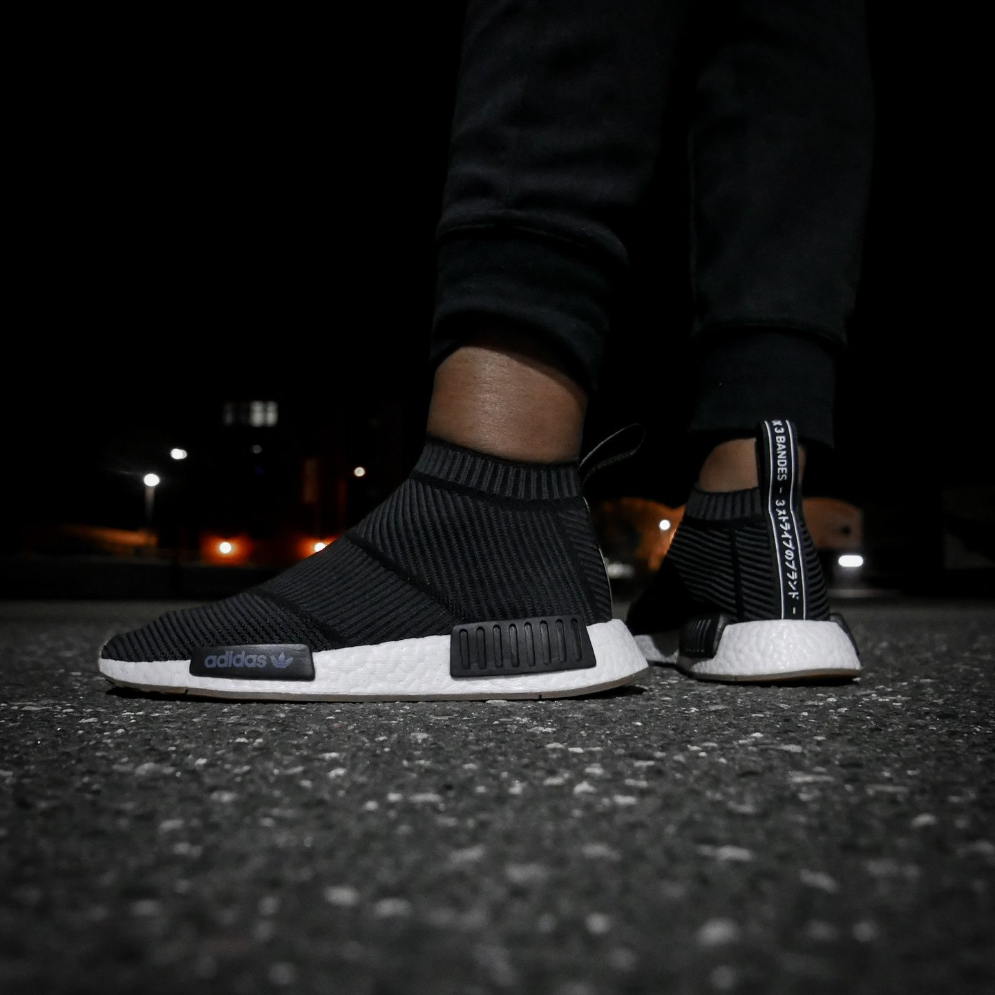 Adidas NMD CS1 City Sock Boost Primeknit Core Black / Gum BA7209-42