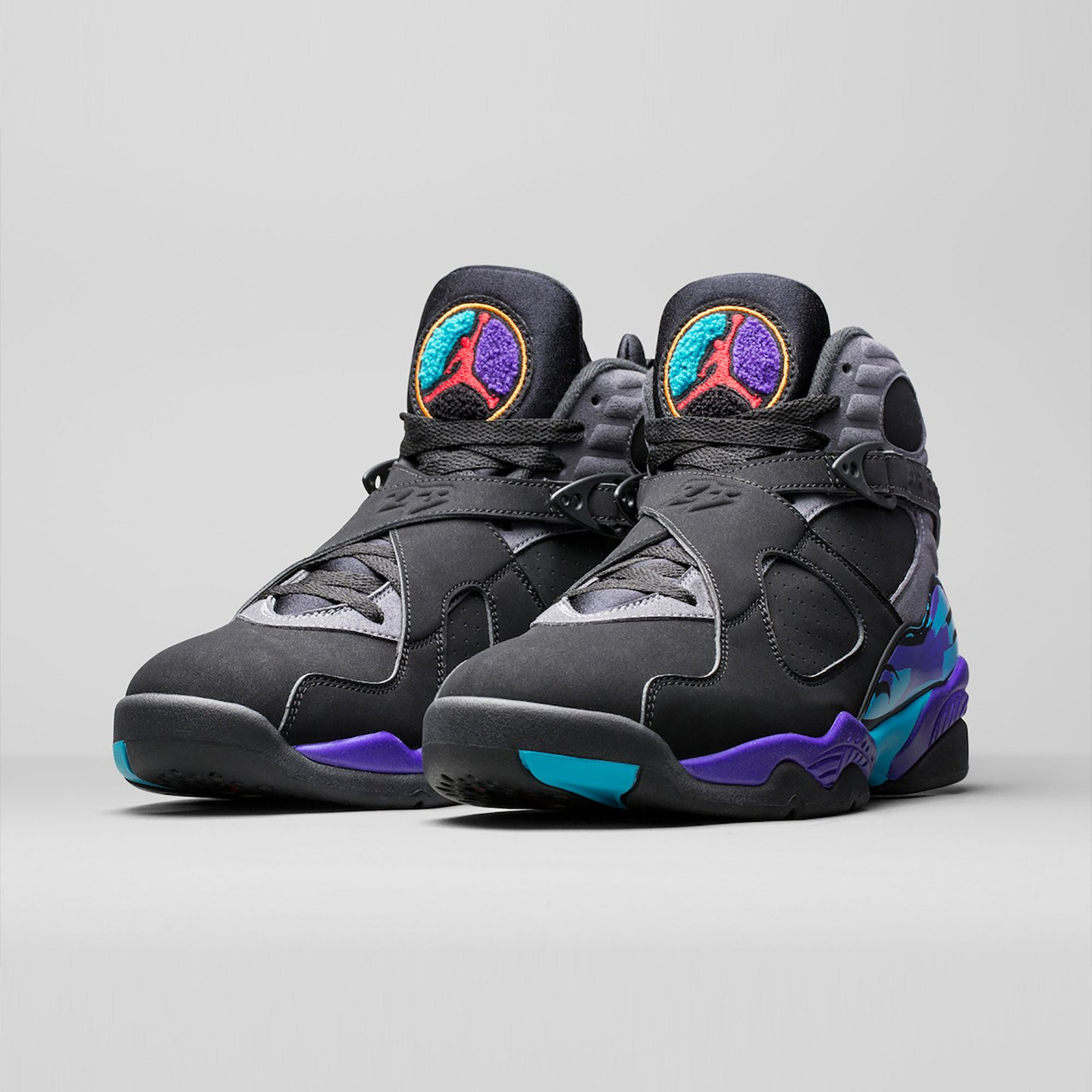 Jordan Air Jordan Retro 8 'Aqua' Black/True Red-Flint Grey-Bright Concord 305381-025-44.5
