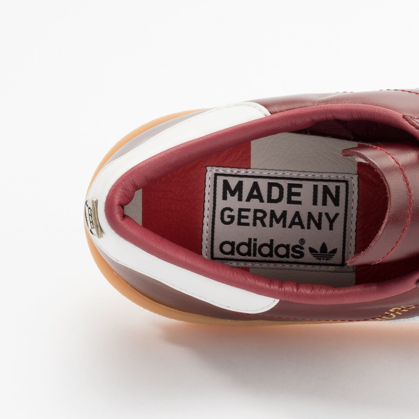 Adidas Hamburg - Made in Germany Burgundy / White / Gold / Gum S31603-43.33