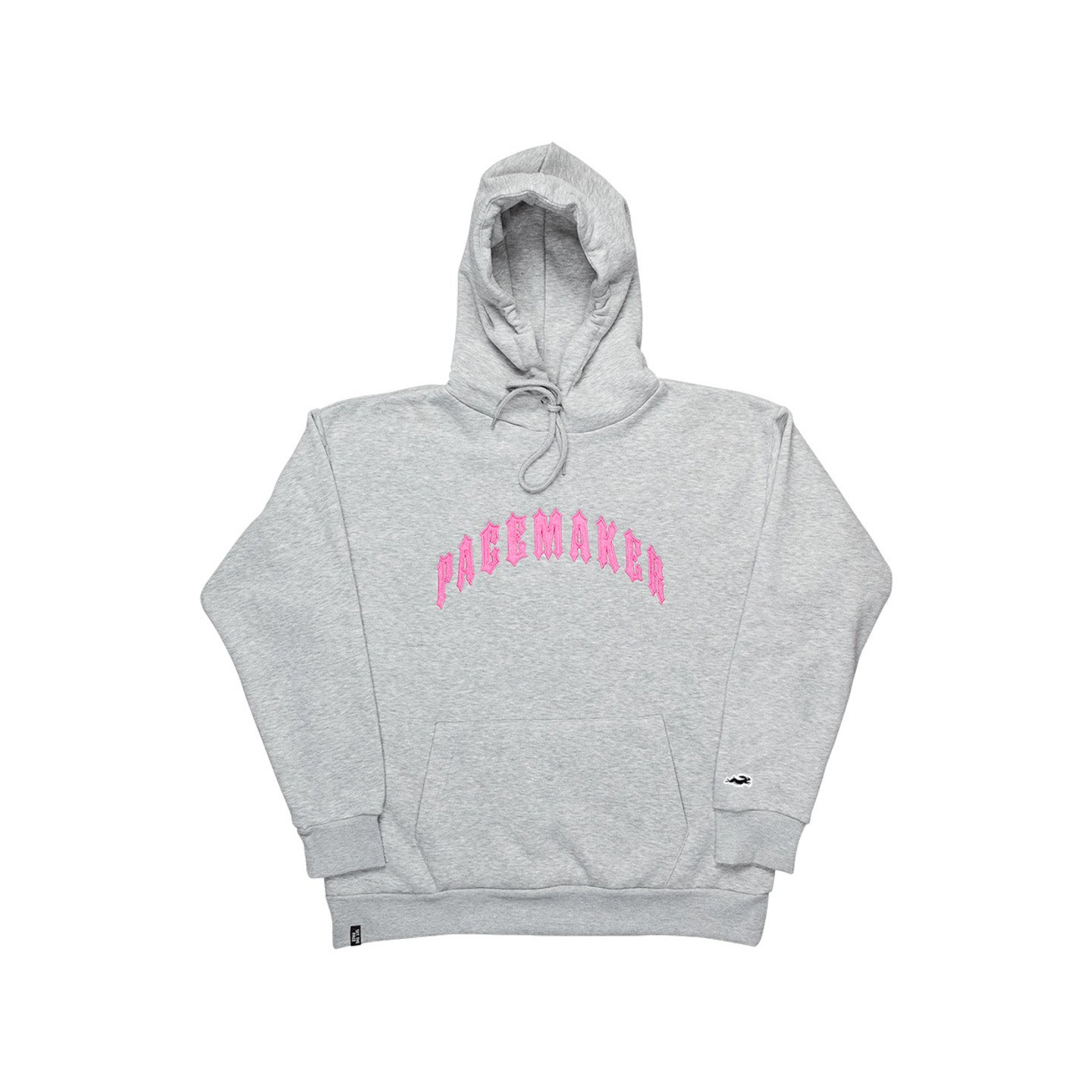 Pacemaker Pasics Big Logo Hoodie Light Grey Heather / Pink PM015