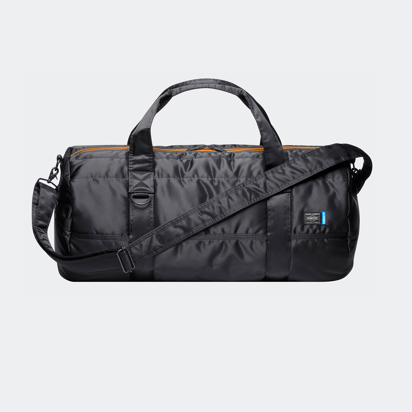 Adidas 2-Way Boston Bag x Porter Core Black / Bright Orange / Blue CJ5749