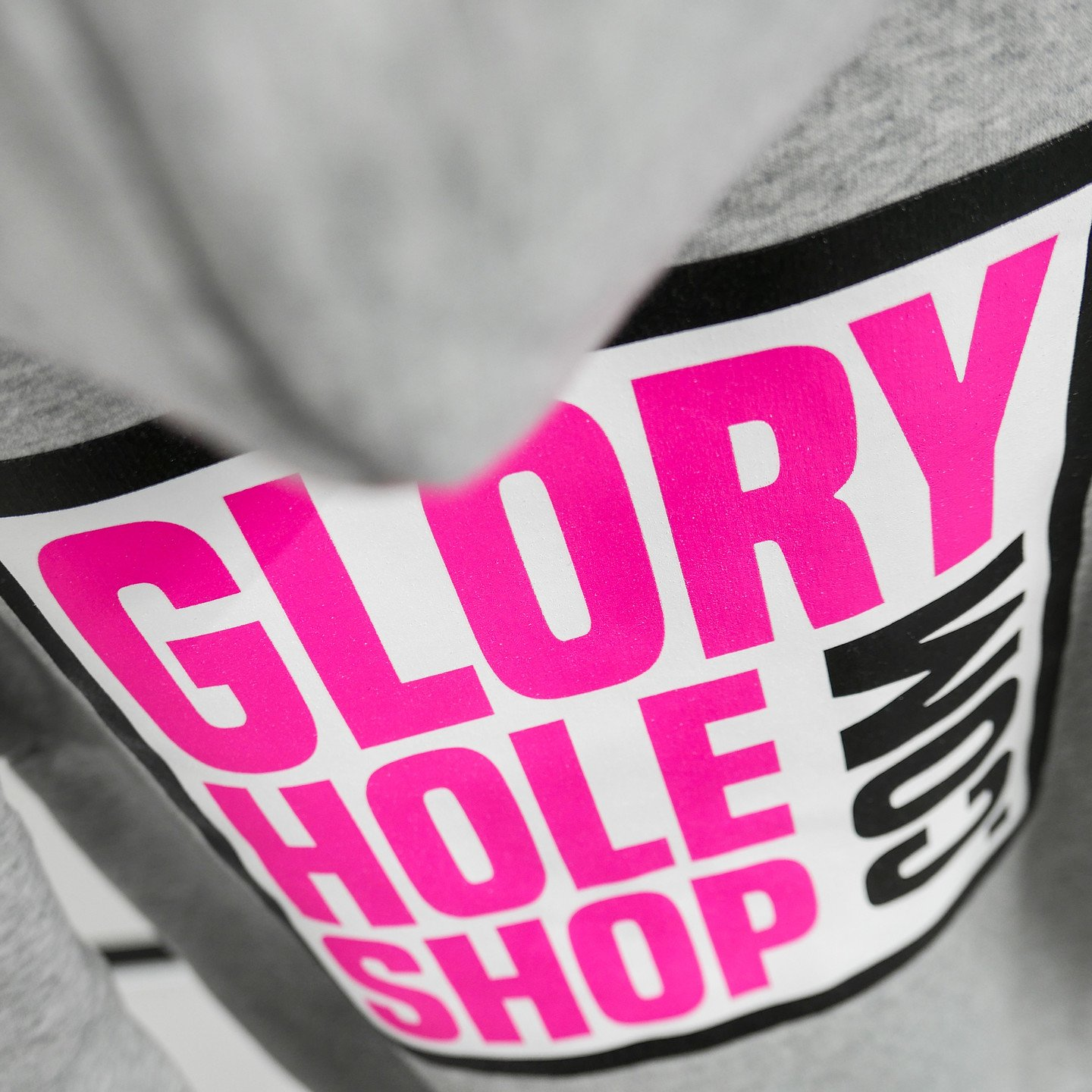 Glory Hole Logo Hoodie Heather Grey / Scream Pink / Black / White GHSS-HD-HTHR-001