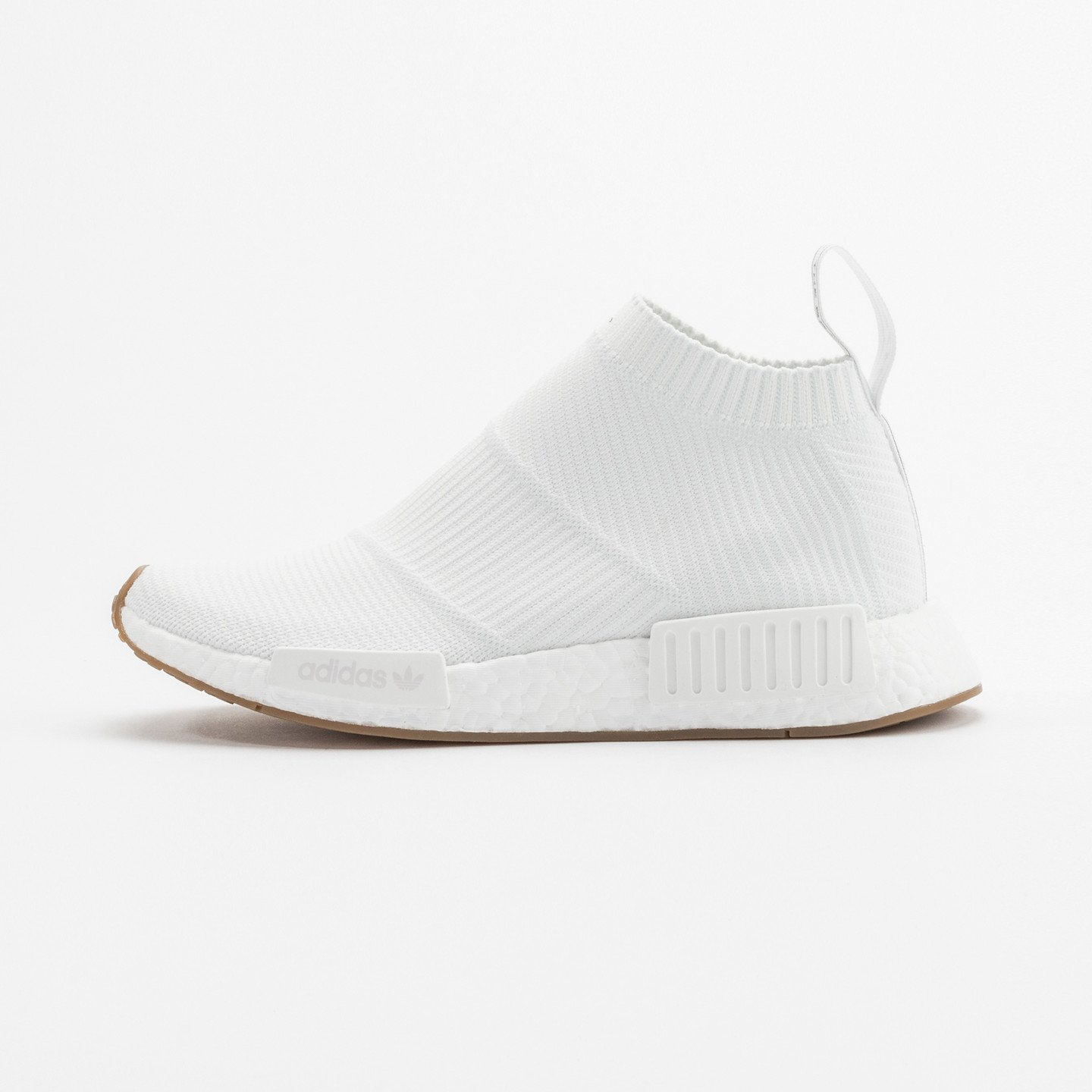 Adidas NMD CS1 City Sock Boost Primeknit Running White / Gum BA7208-45.33