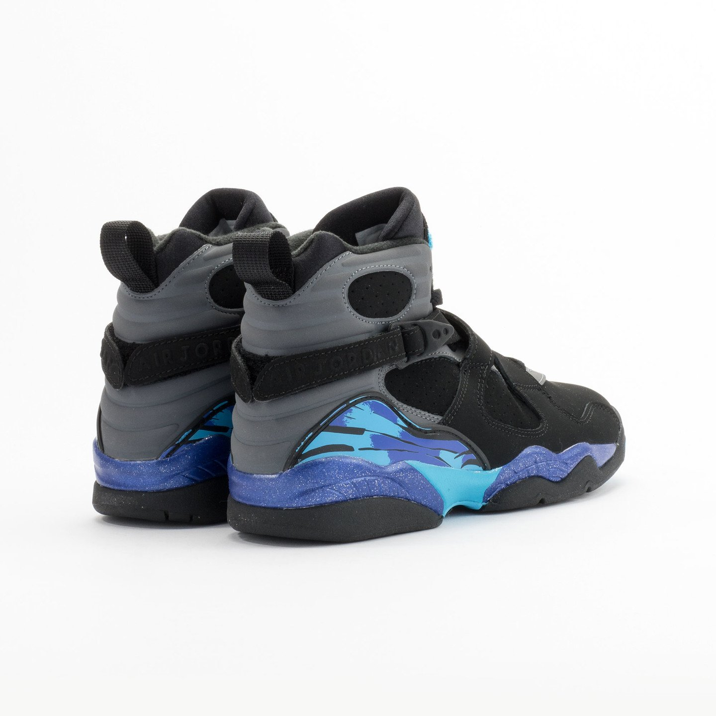Jordan Air Jordan Retro 8 'Aqua' BG Black/True Red-Flint Grey-Bright Concord 305368-025