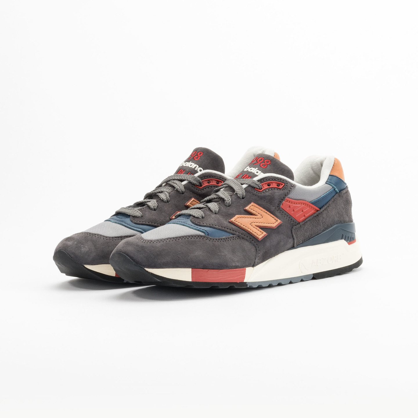 New Balance M998 Made in USA Dark Grey / Beige / Red / Navy M998DBR-42