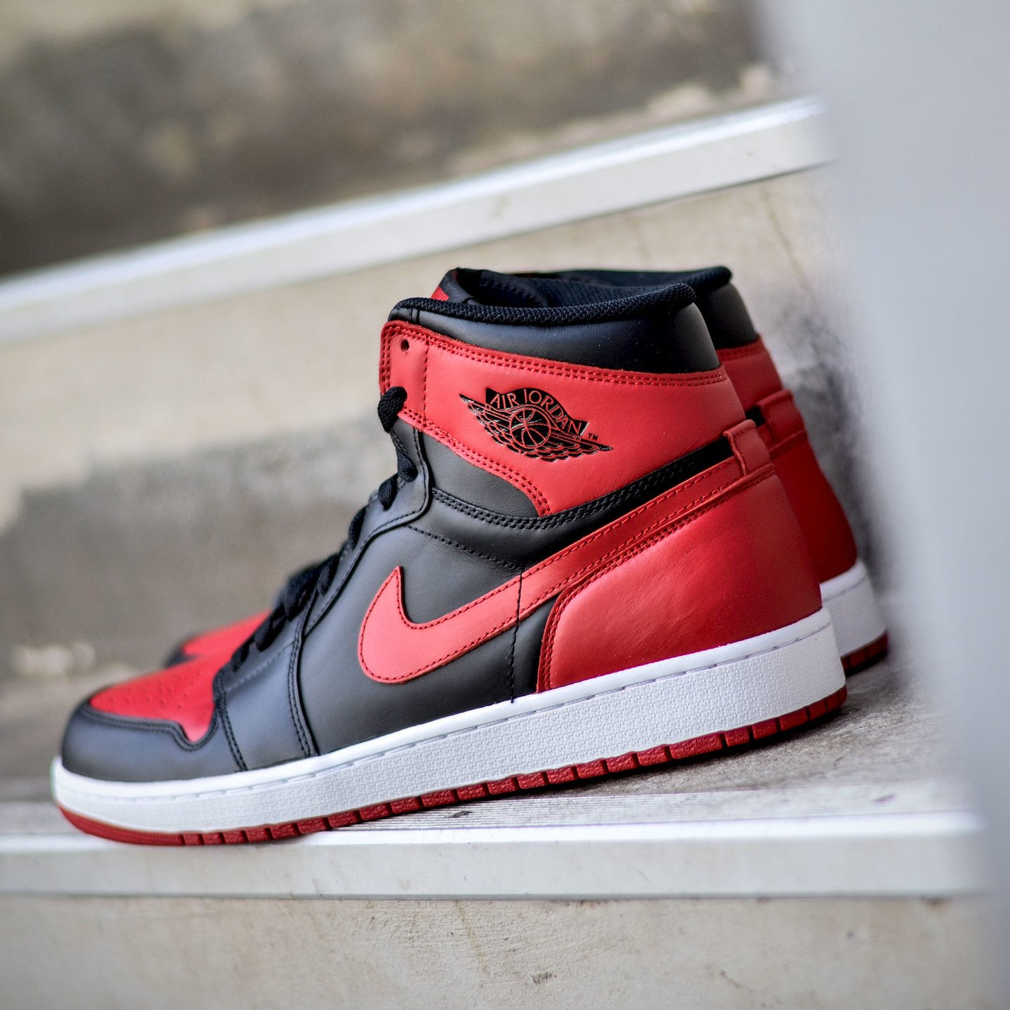 Jordan Air Jordan 1 Retro High OG BG 'Banned' Black / Red 575441-001