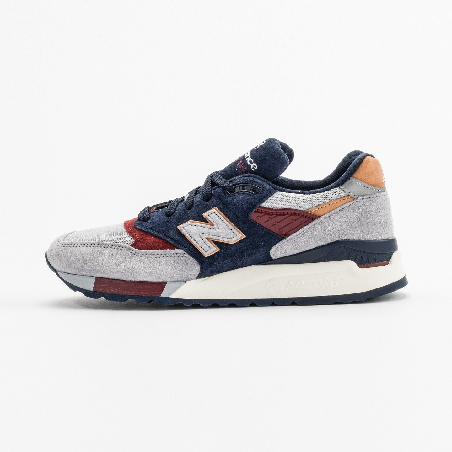 New Balance M998 - Made in USA Light Grey / Navy / Red M998CSU