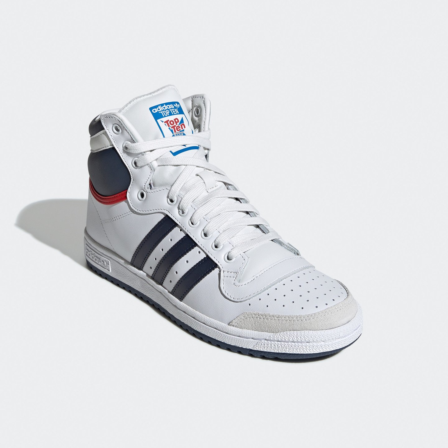 Adidas Top Ten Hi OG White / Navy / Red D65161