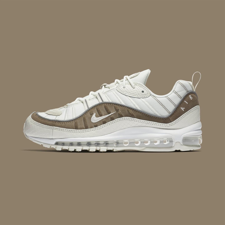 ... latest fashion 8bea1 56053 Nike Air Max 98 SE Snakeskin Sail White  Sepia Stone AO9380- ... 8dac83229