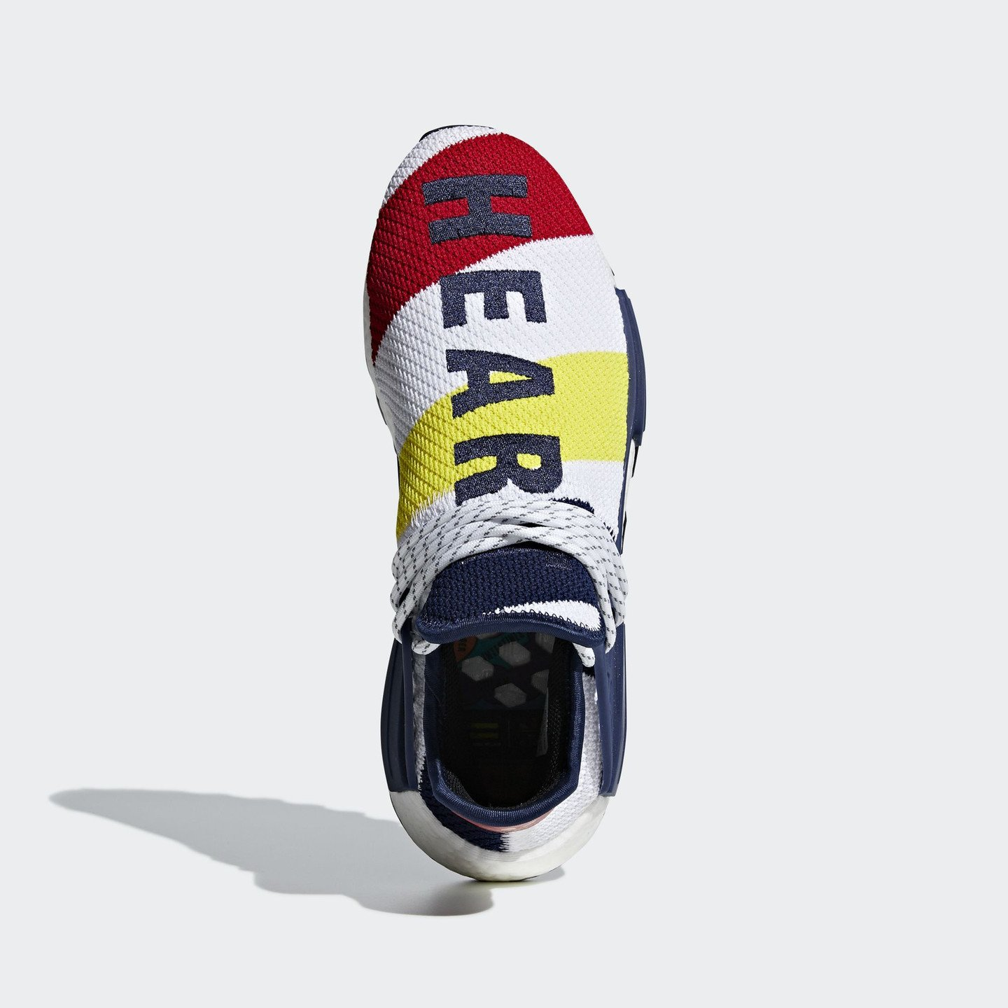 Adidas Pharrell Williams x BBC HU NMD Ftwr White / Scarlet / Dark Blue BB9544