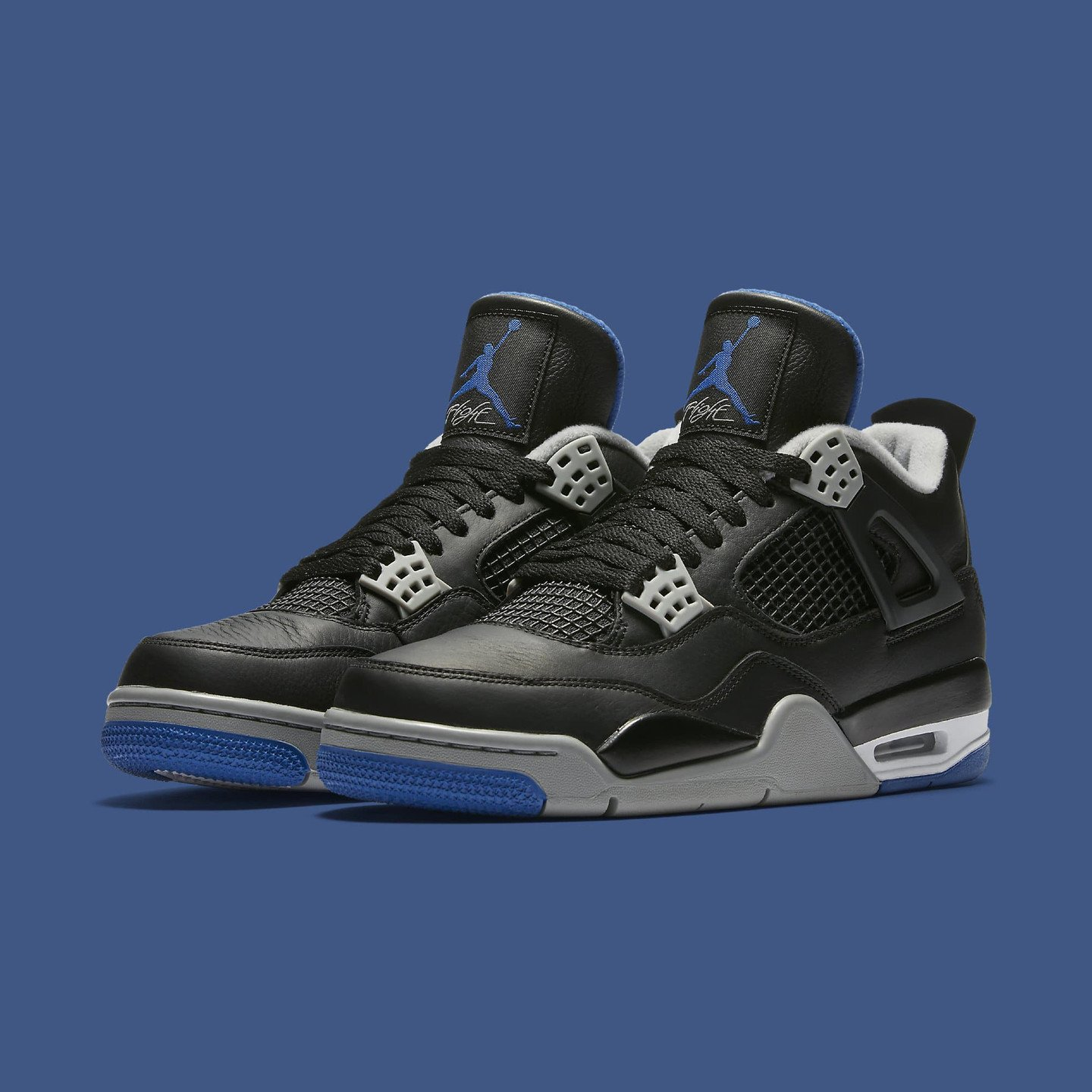 Jordan Air Jordan 4 Retro GS Black / Game Royal / Matte Silver  408452-006