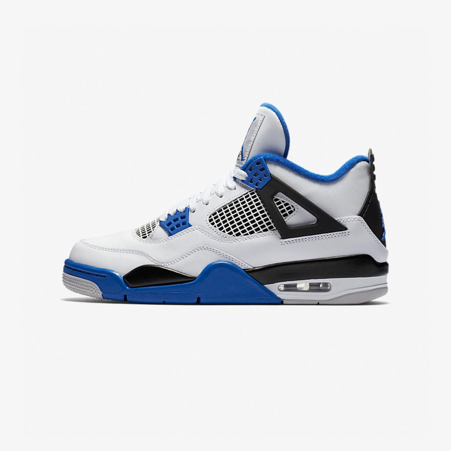 unbestimmt Air Jordan 4 Retro GS 'Motorsport' White / Game Royal / Black 408452-117-38