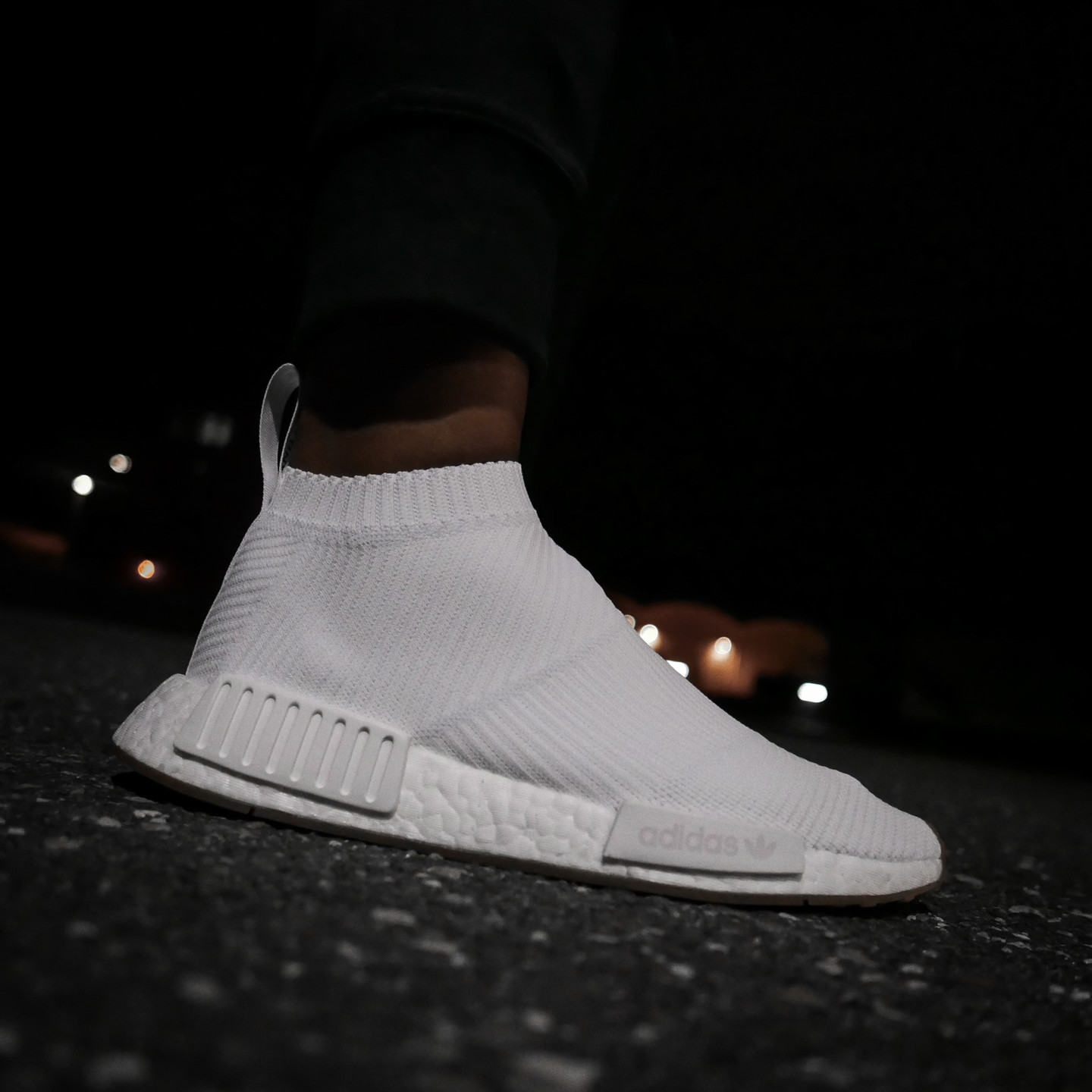 Adidas NMD CS1 City Sock Boost Primeknit Running White / Gum BA7208-39.33
