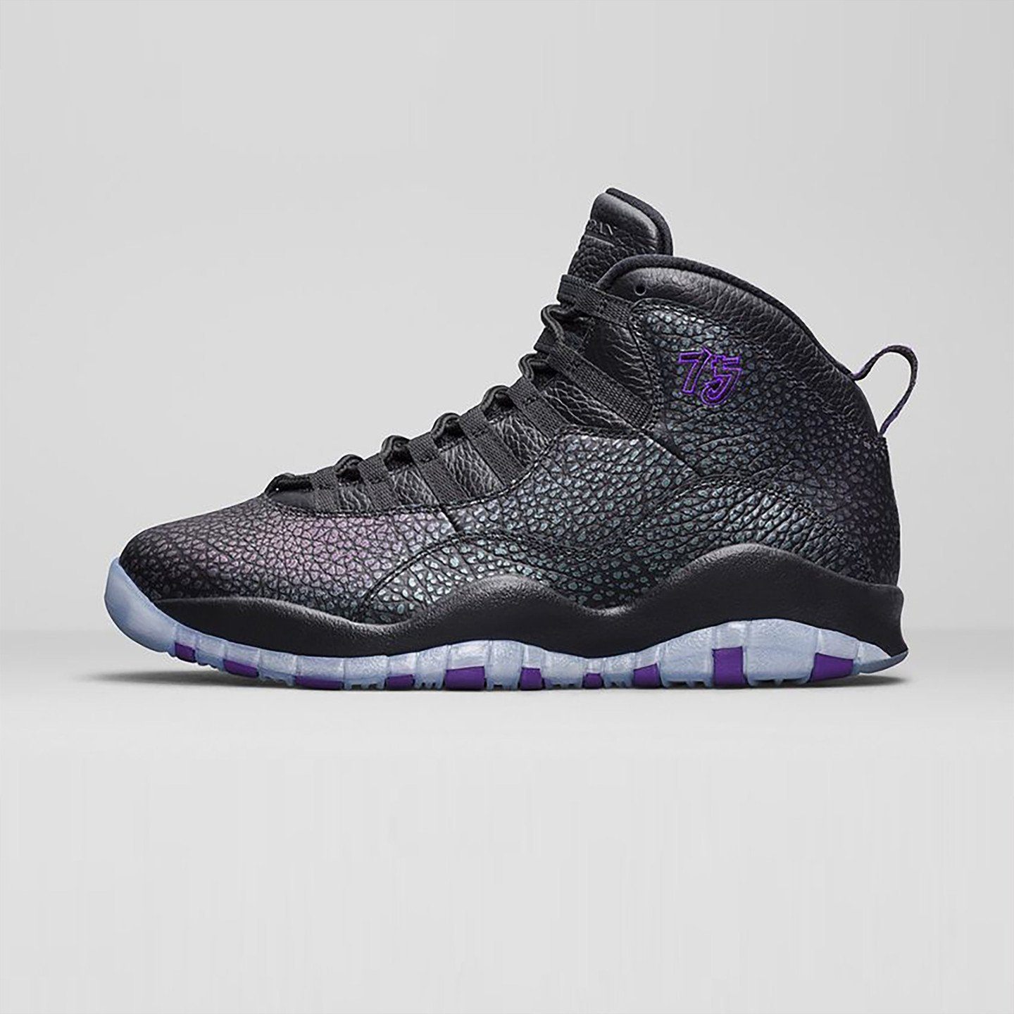 Jordan Air Jordan 10 Retro 'Paris' Black / Fierce Purple 310805-018-46