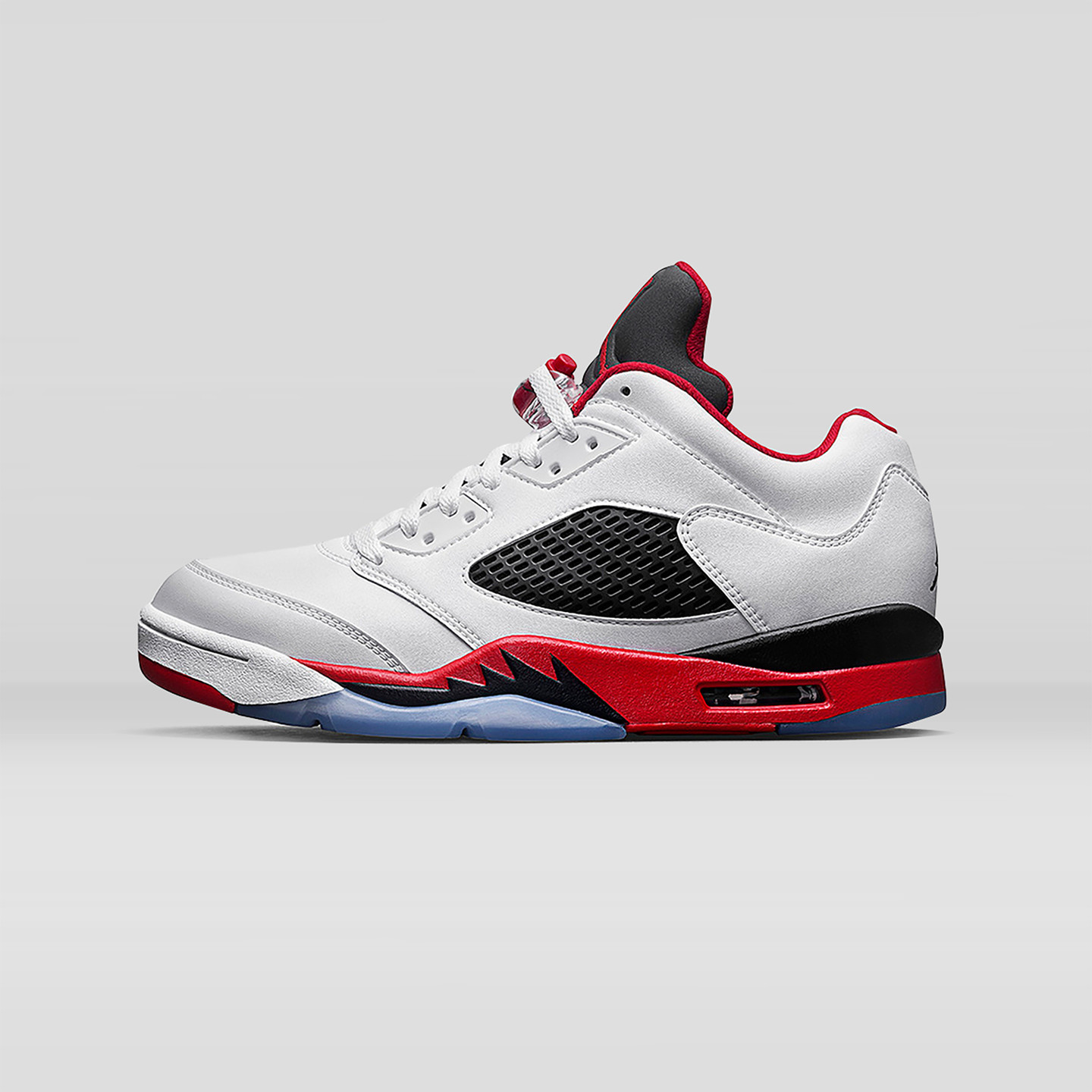 Jordan Air Jordan 5 Low Retro GS 'Fire Red' White / Fire Red / Black 314338-101-37.5