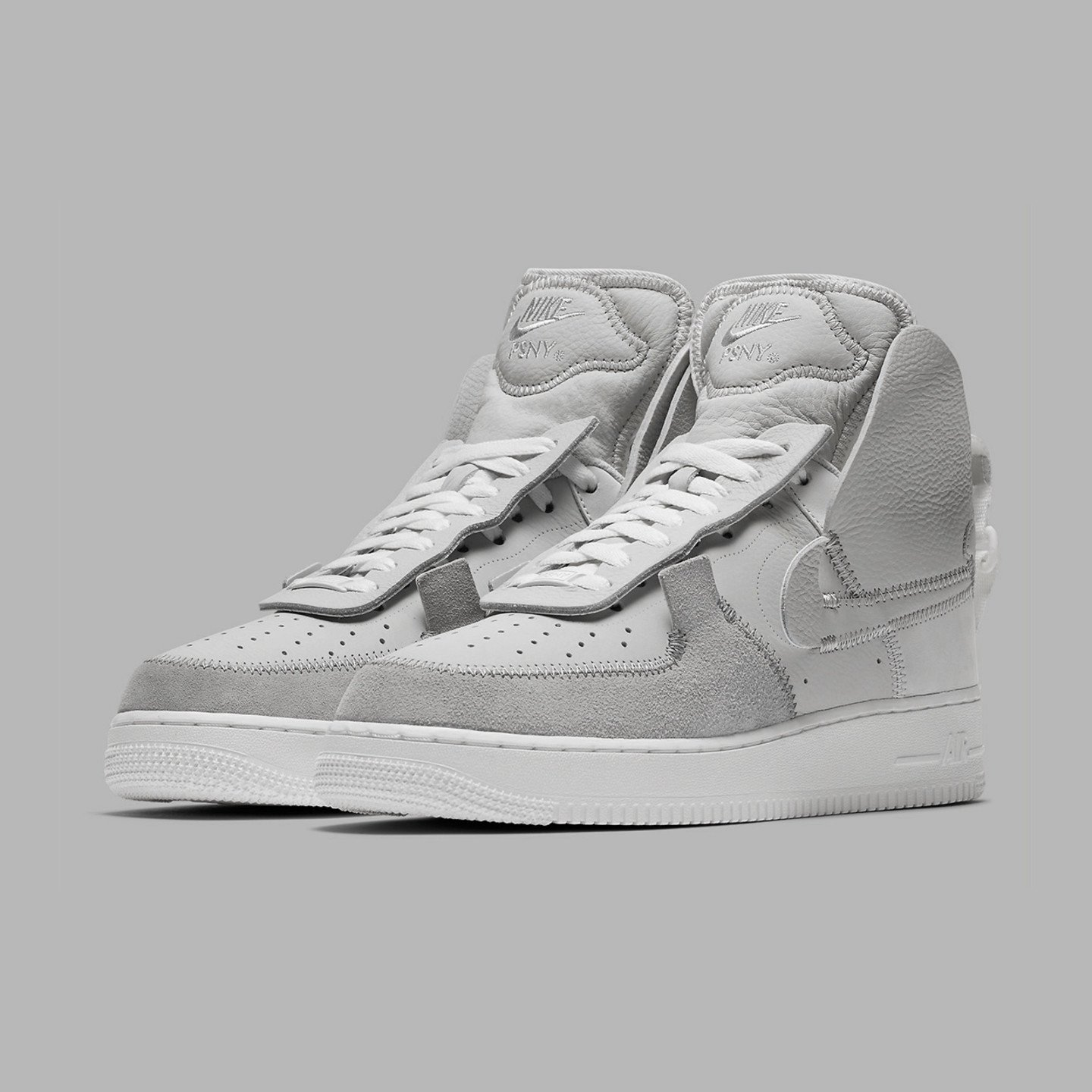 Nike Air Force 1 High / Low x PSNY Matte Silver / Light Bone / Sail / White AO9292-001