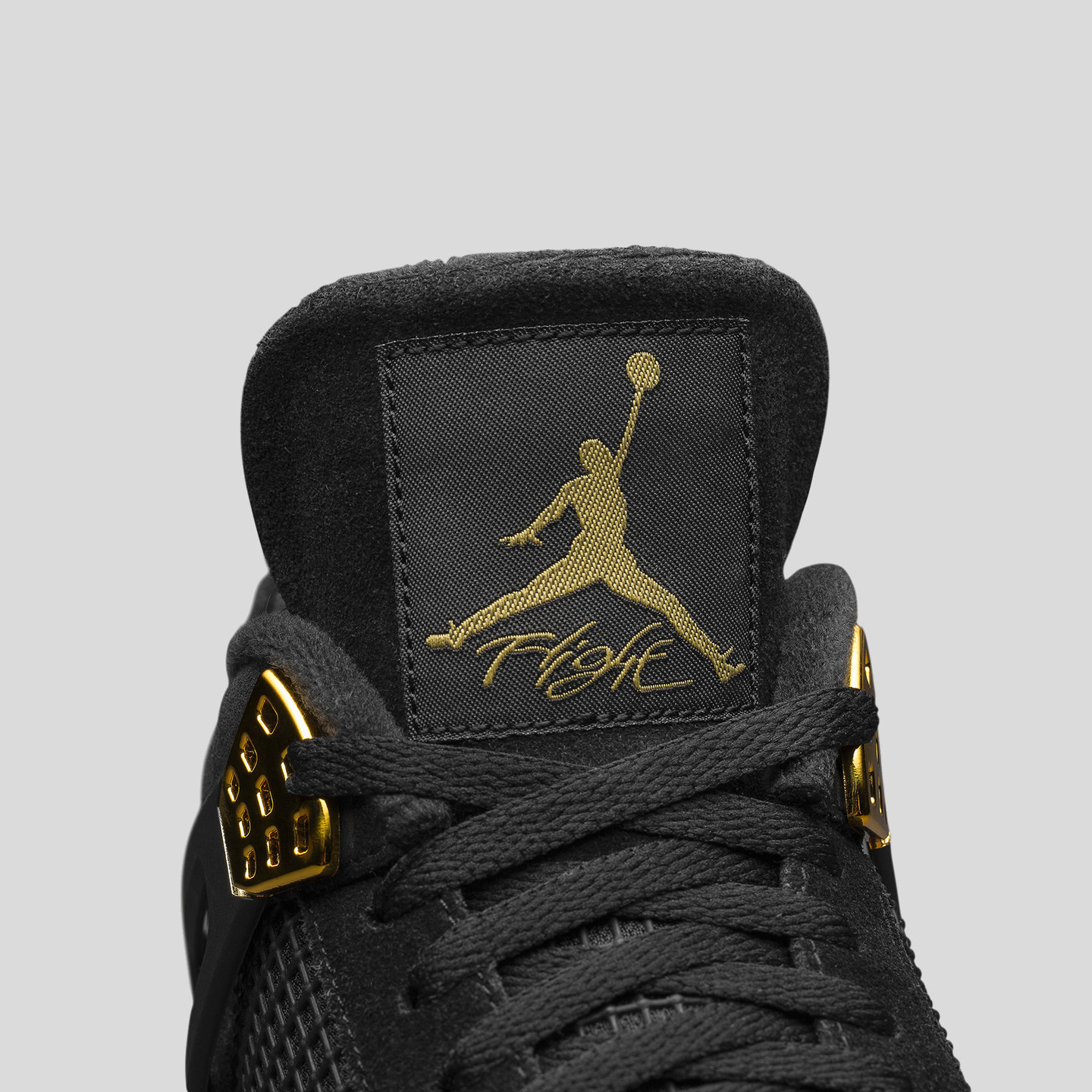 Jordan Air Jordan 4 Retro GS 'Royalty' Black / Metallic Gold / White 408452-032-36