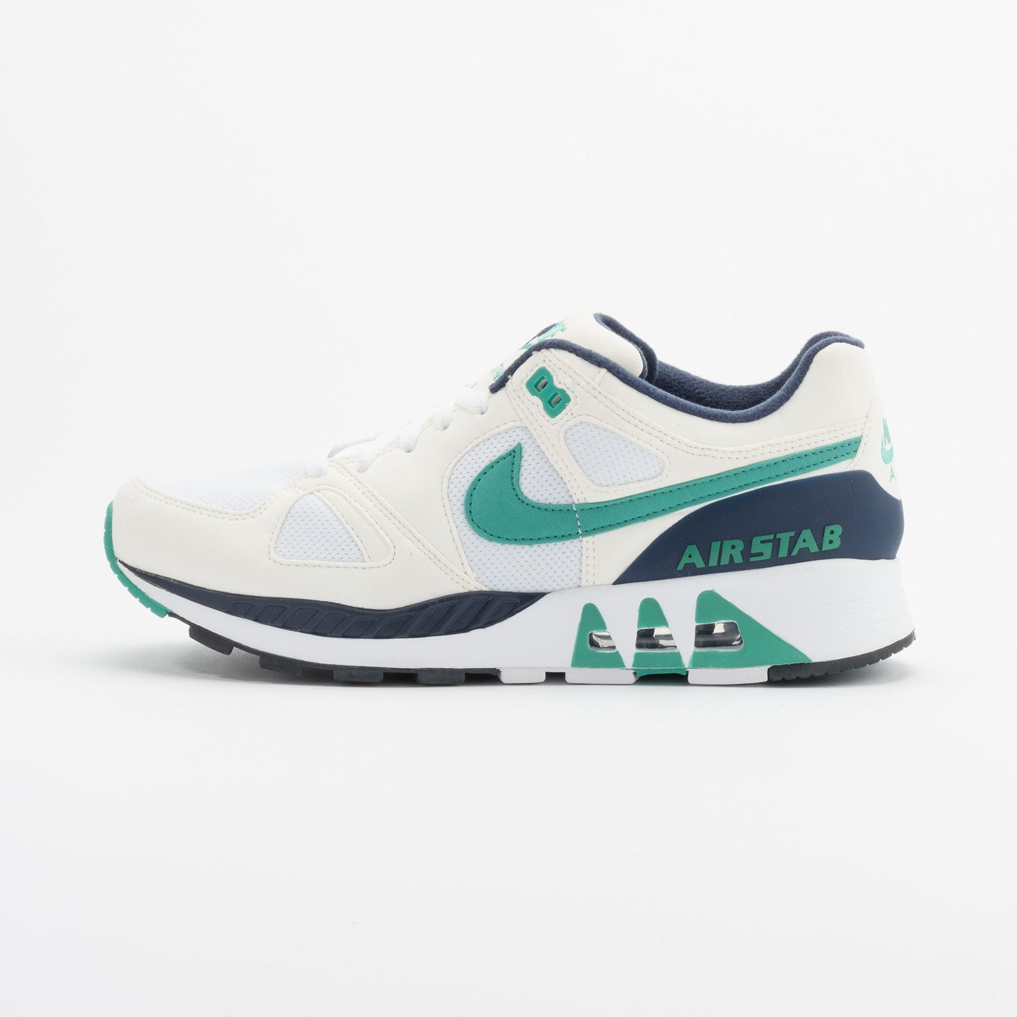 Nike Air Stab White/Emerald Green-Sl-Mid Nvy 312451-100-42.5