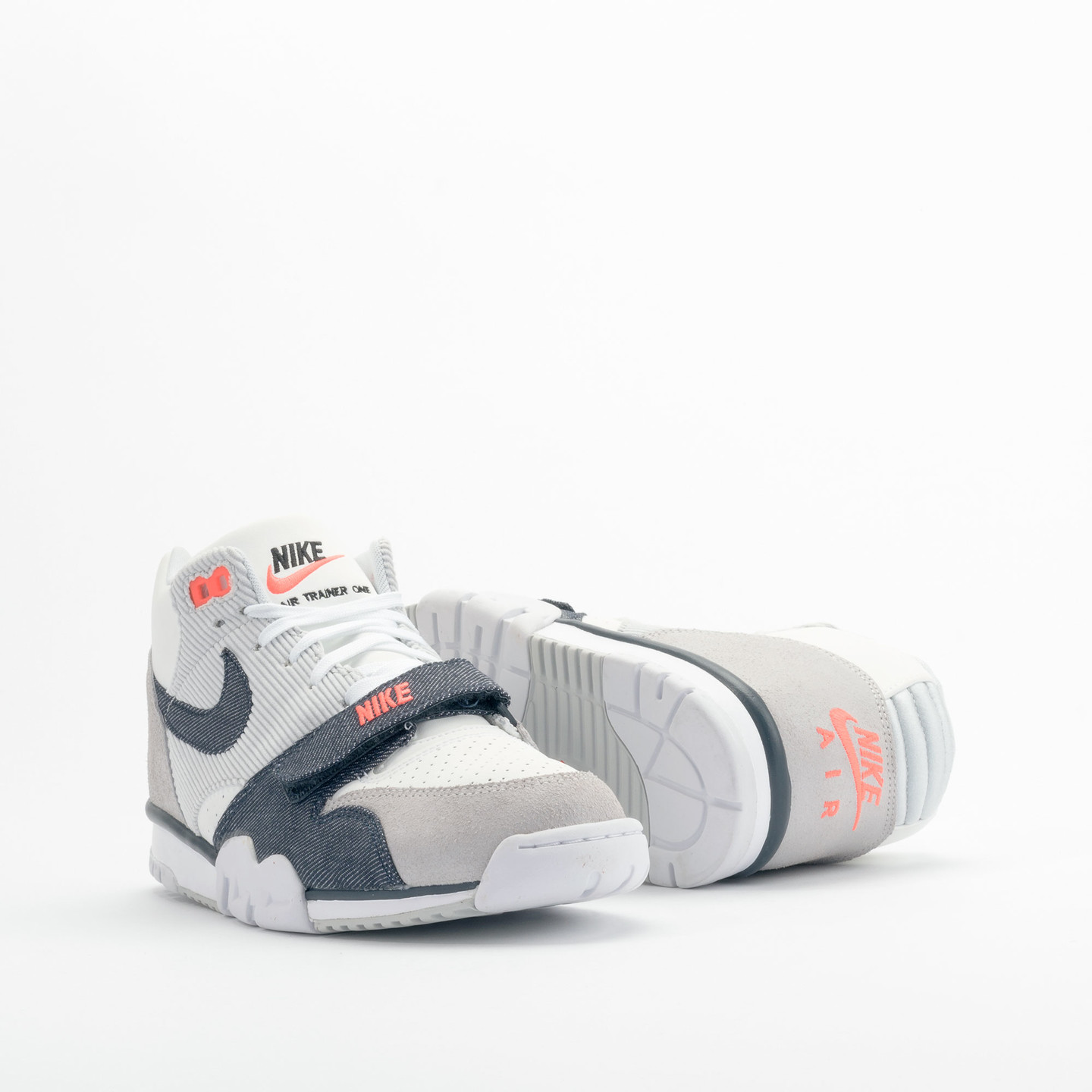 Nike Air Trainer 1 Mid White / Obsidian / Pure Platinum 317554-103-44.5