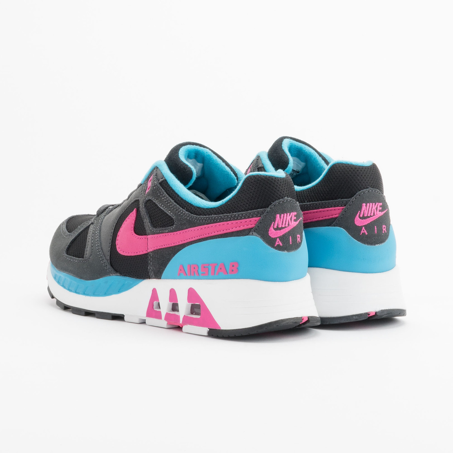 Nike Air Stab Black/Hot Pink-Anthrct-Bl Lgn 312451-004-42