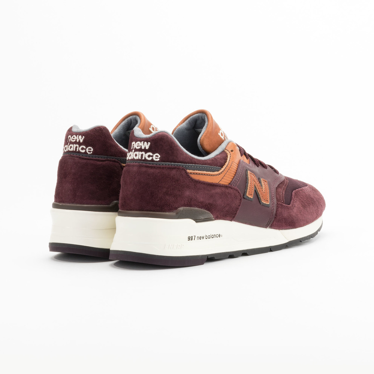 New Balance M997 Made in USA Burgundy / Light Brown M997DSLR-46.5
