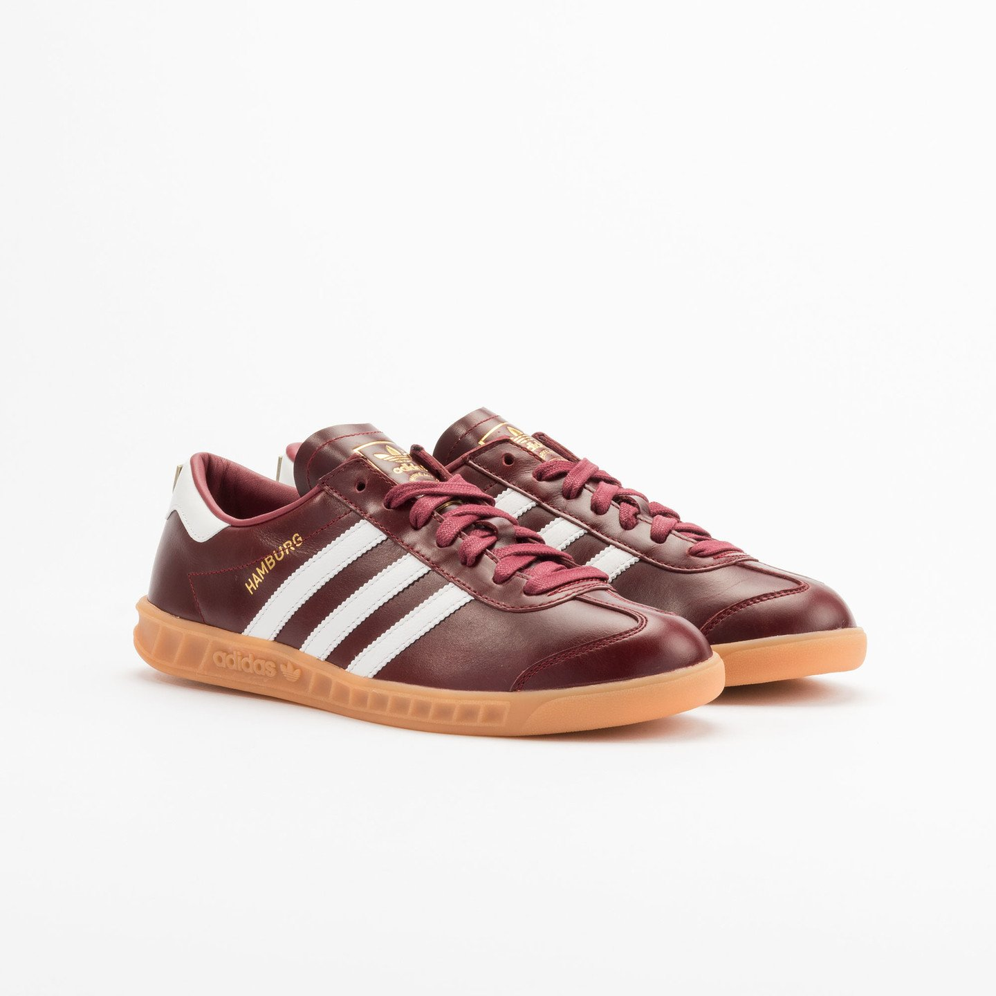 Adidas Hamburg - Made in Germany Burgundy / White / Gold / Gum S31603-45.33