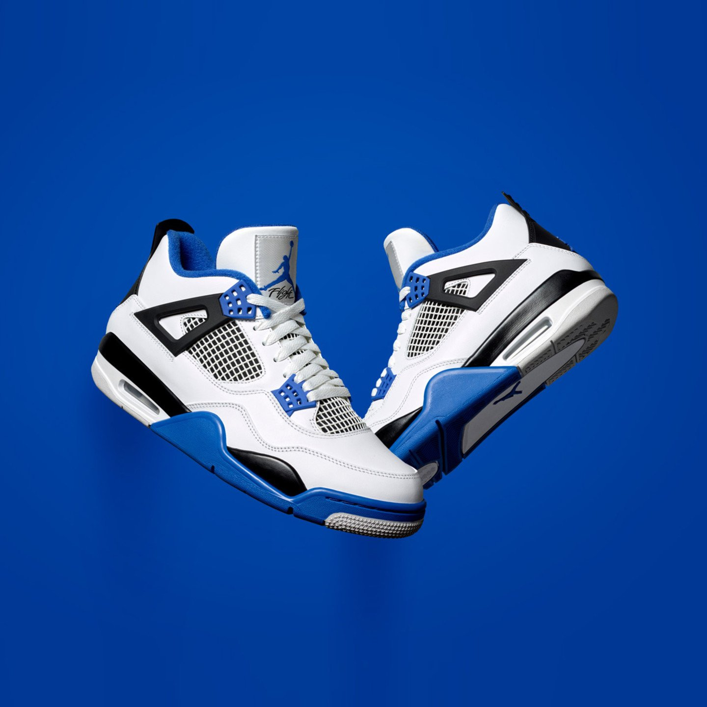Jordan Air Jordan 4 Retro 'Motorsport' White / Game Royal / Black 308497-117-41