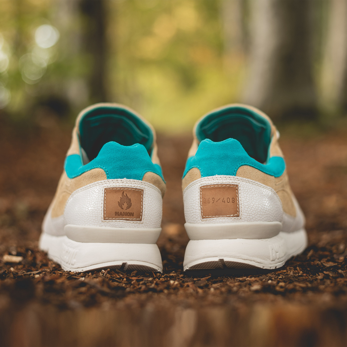 KangaROOS Coil-R1 x Hanon 'Moonshine' - Made in Germany Sand / Off White / Turquoise 47501 0 1200